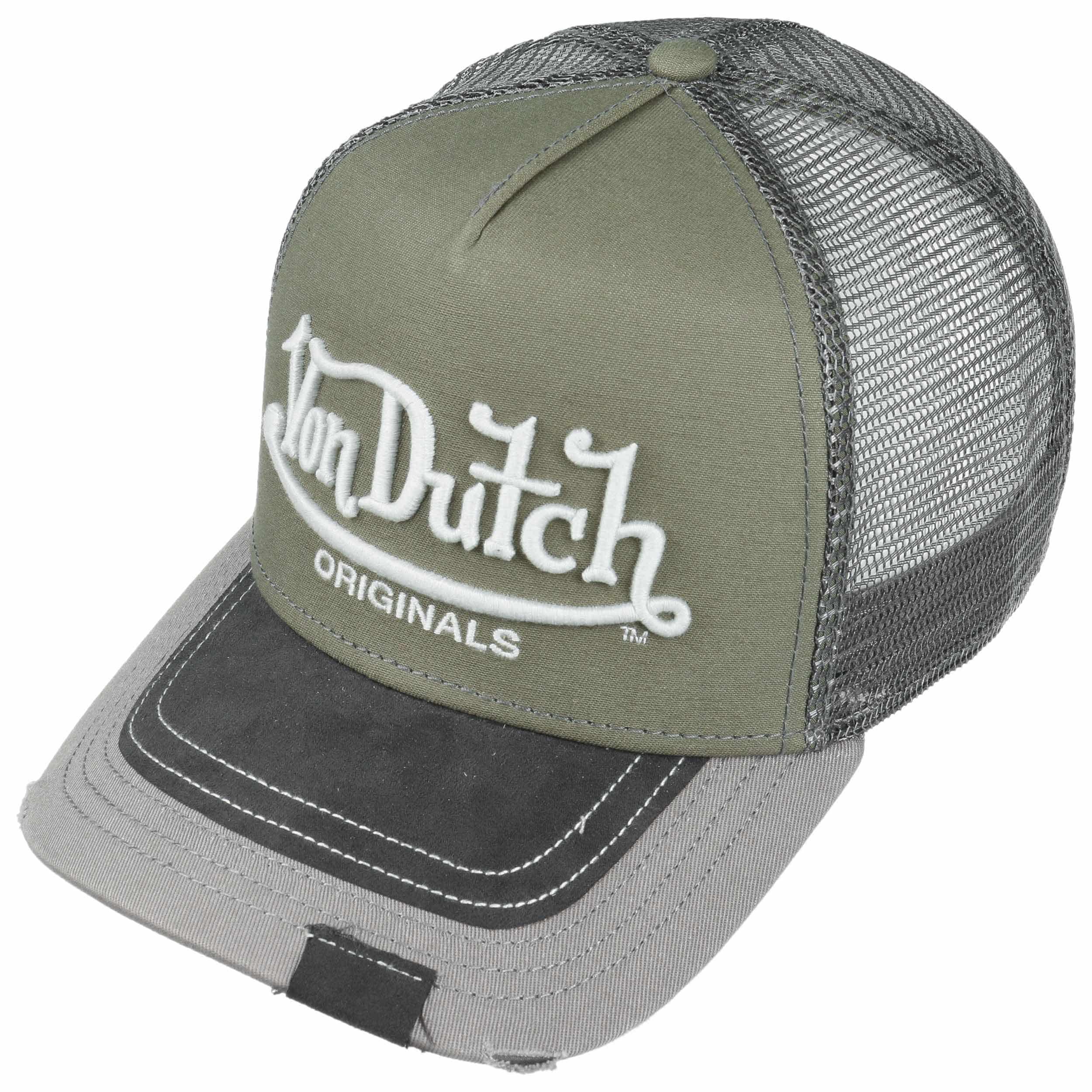 ec9dfd4cb6e6b ... Premium Logo Trucker Cap by Von Dutch - olive 1 ...