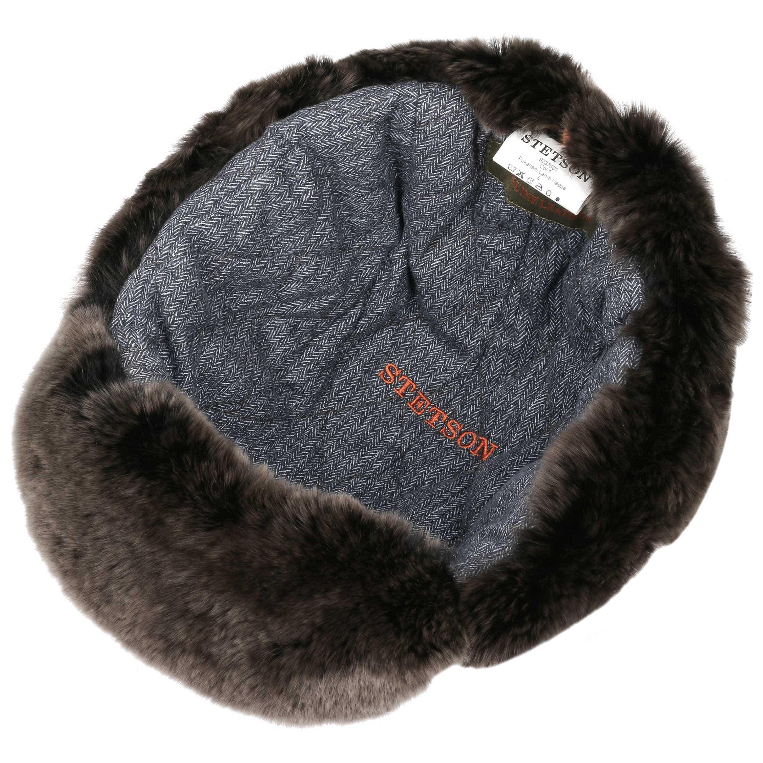 ... Pukahani Leather Aviator Hat by Stetson - black 2 ... 3bc0deb8ce8