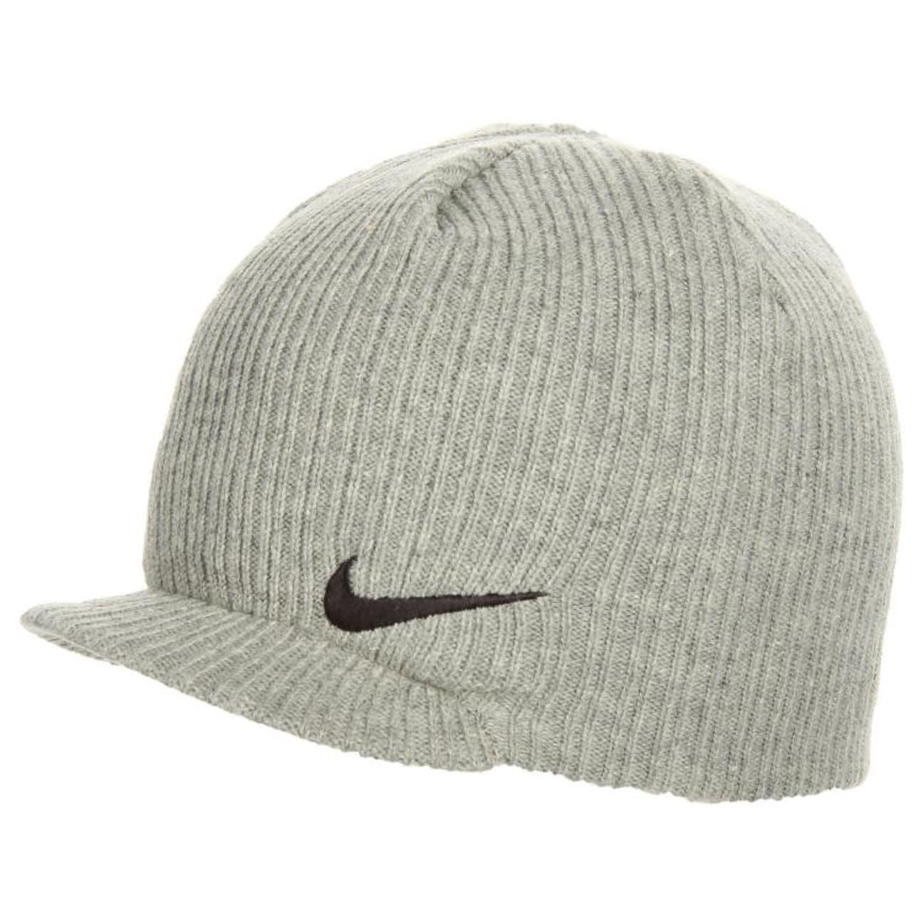 cfd3f9d67d0 QT Swoosh Peaked Beanie by Nike - grey 1 ...