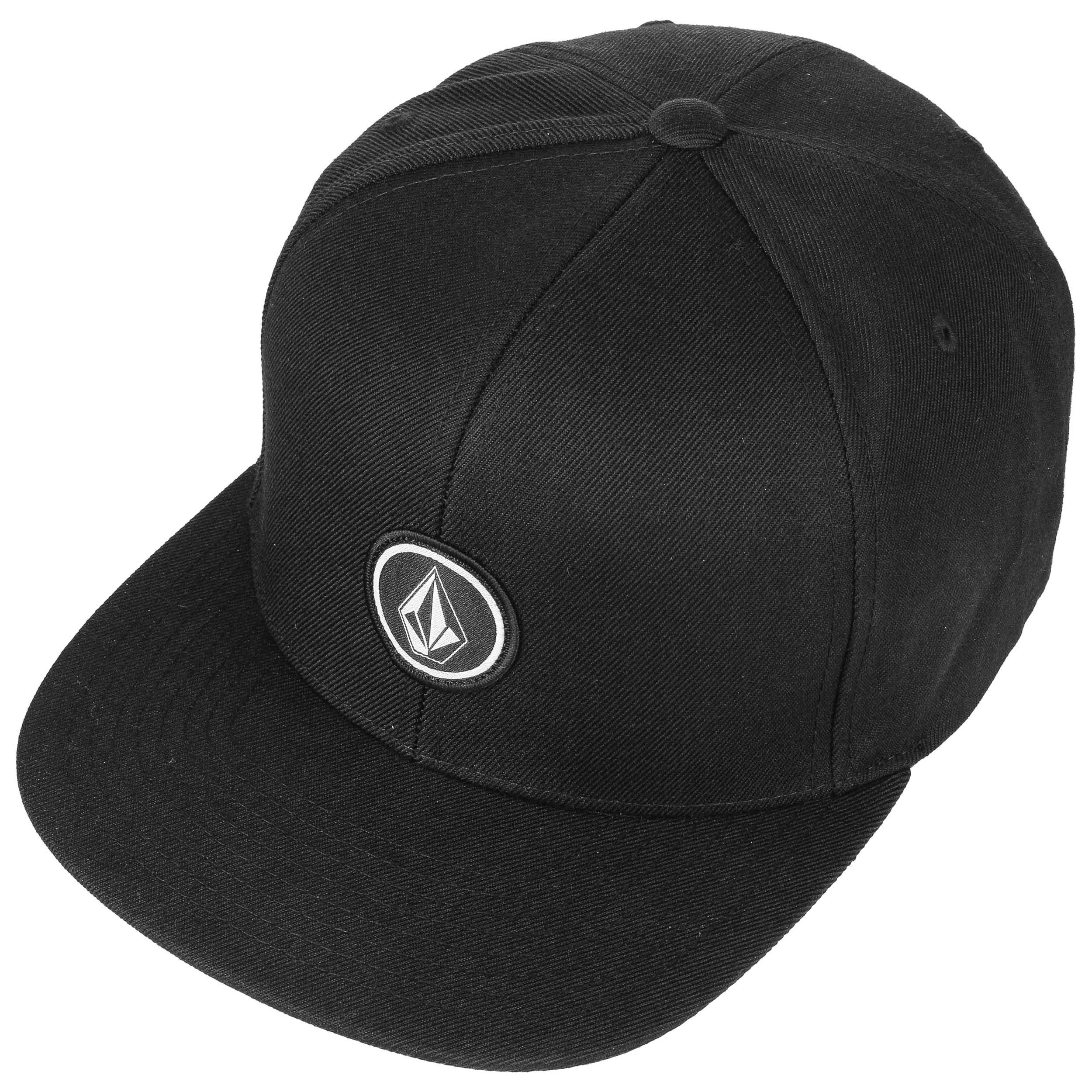 80b7cbba5b65d ... Quarter Twill Snapback Cap by Volcom - black 1 ...