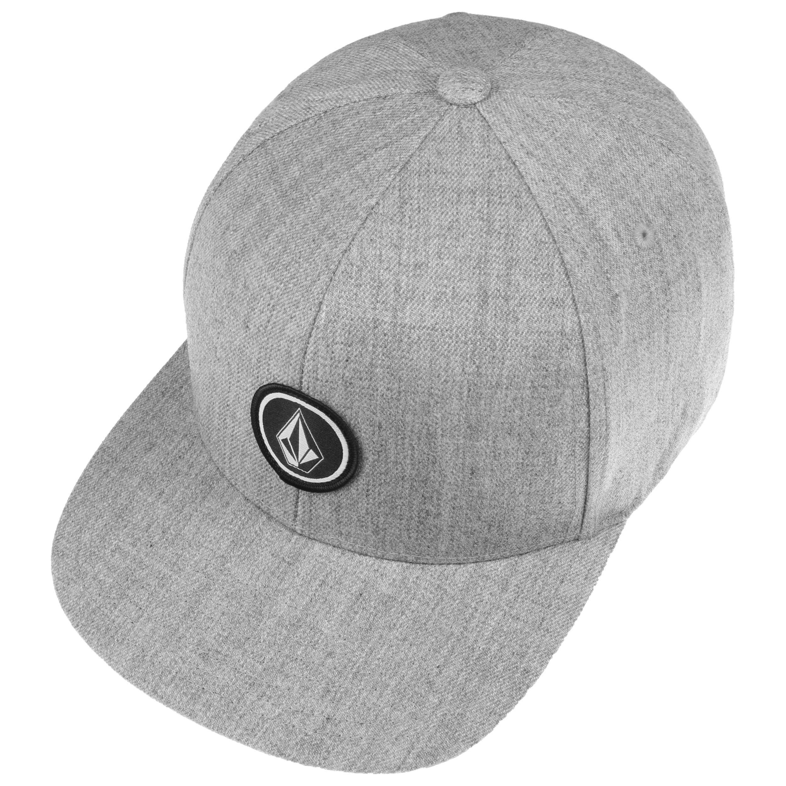 Volcom Men/'s Quarter Twill Snapback Hat Black Cap Summer Headwear