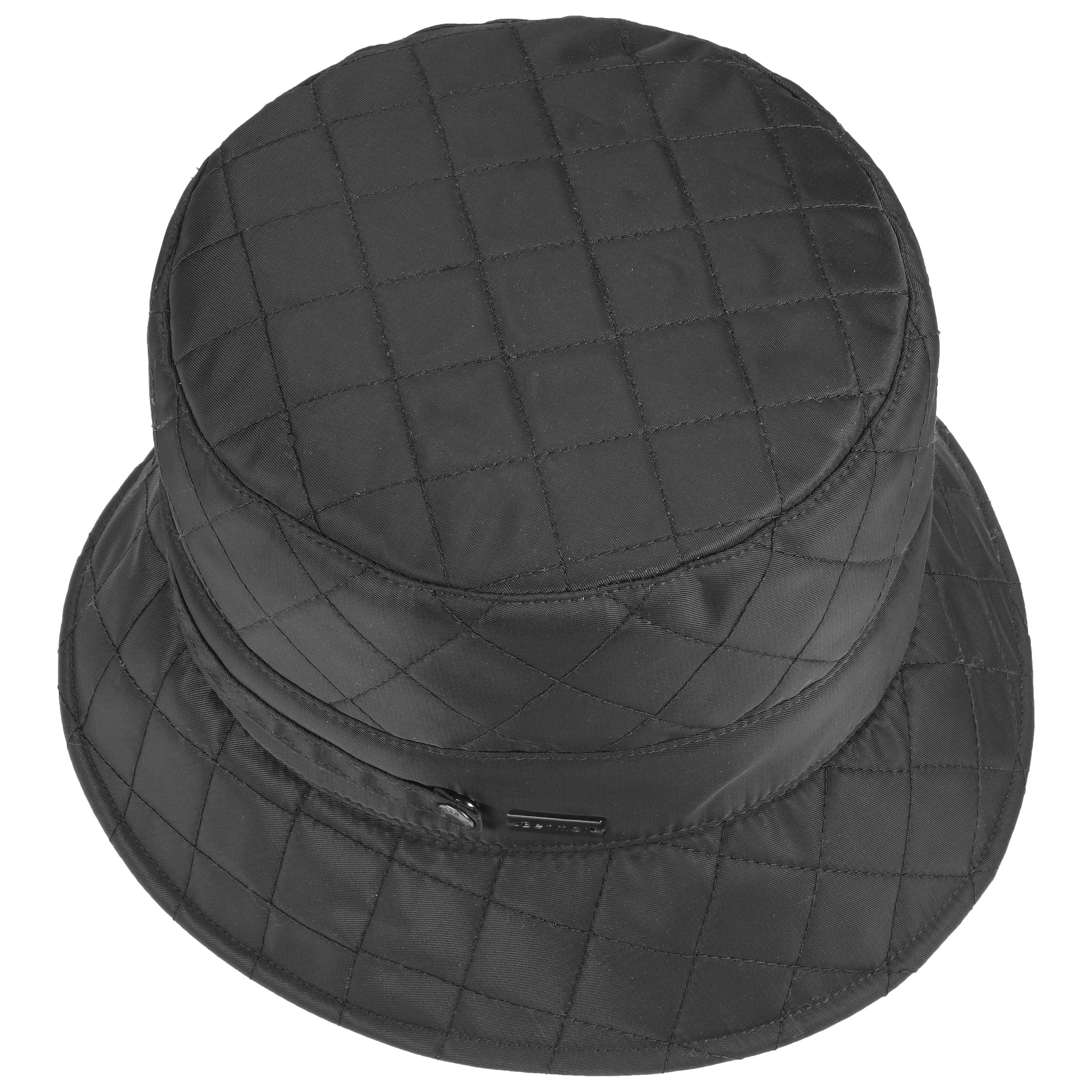 8a3ed3dc8ed55 ... Quilted Bucket Hat by Betmar - black 1 ...