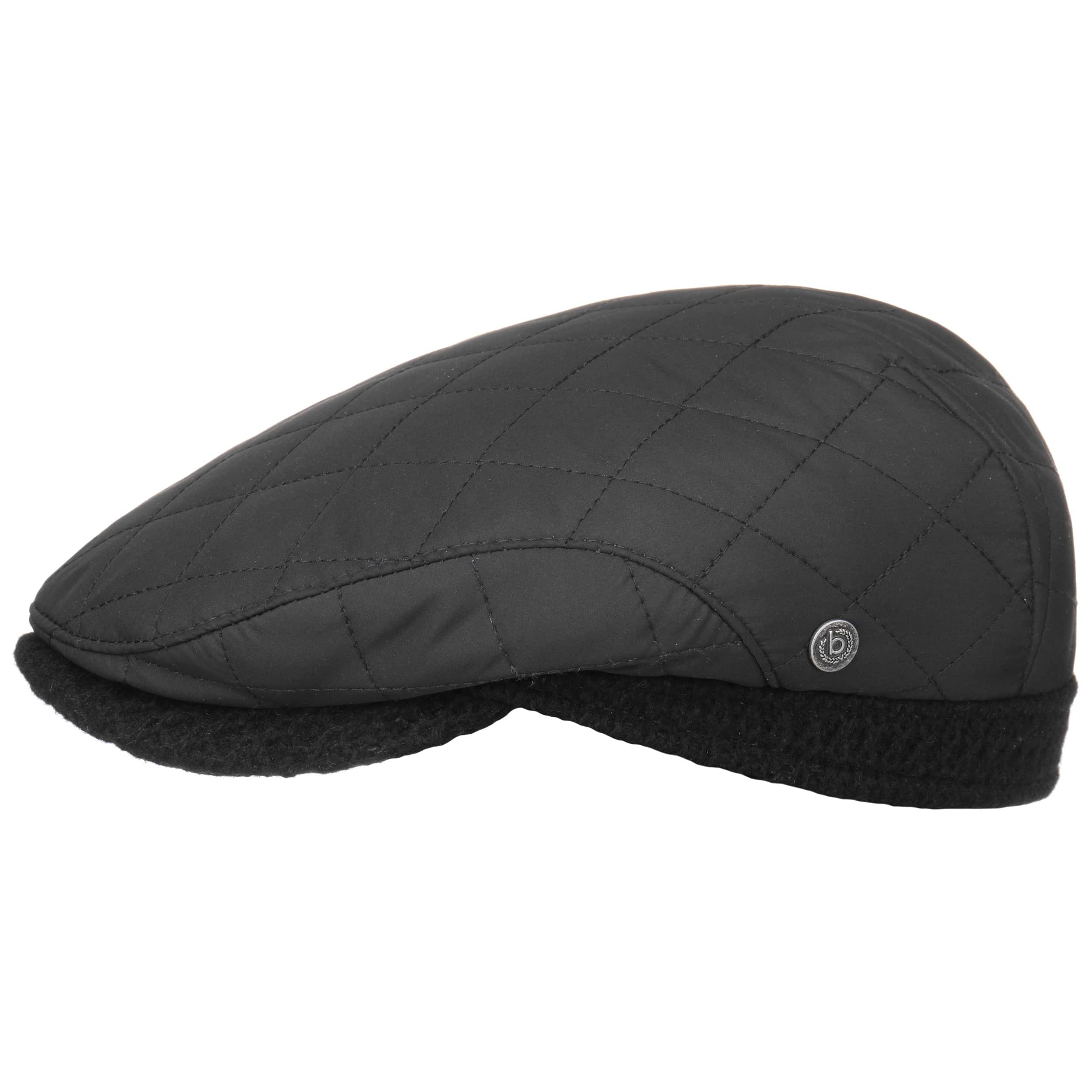 0df456838c3 ... Quilted Flat Cap with Ear Flaps by bugatti - black 6 ...