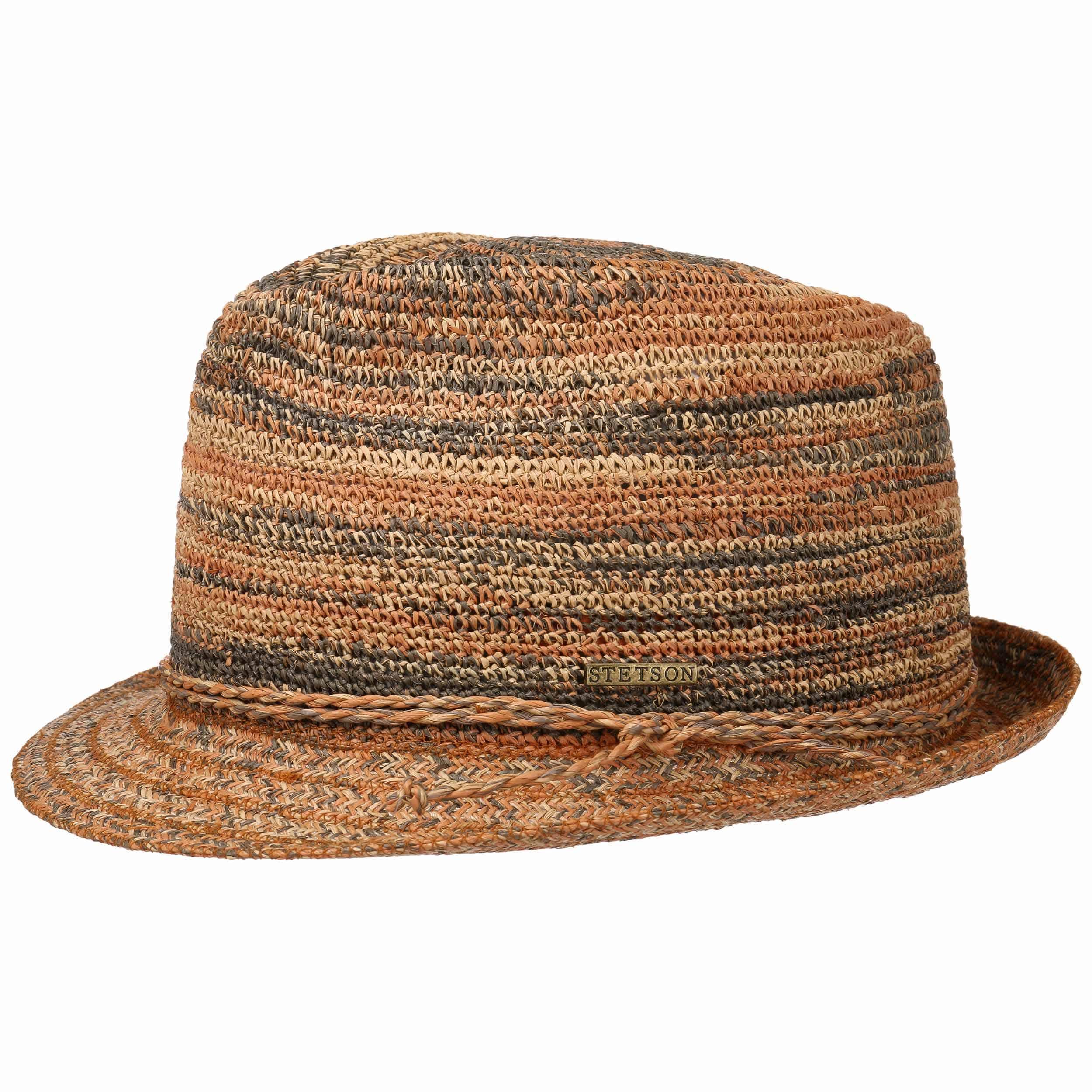 Raffia Crochet Trilby Straw Hat. by Stetson d3409d282f8