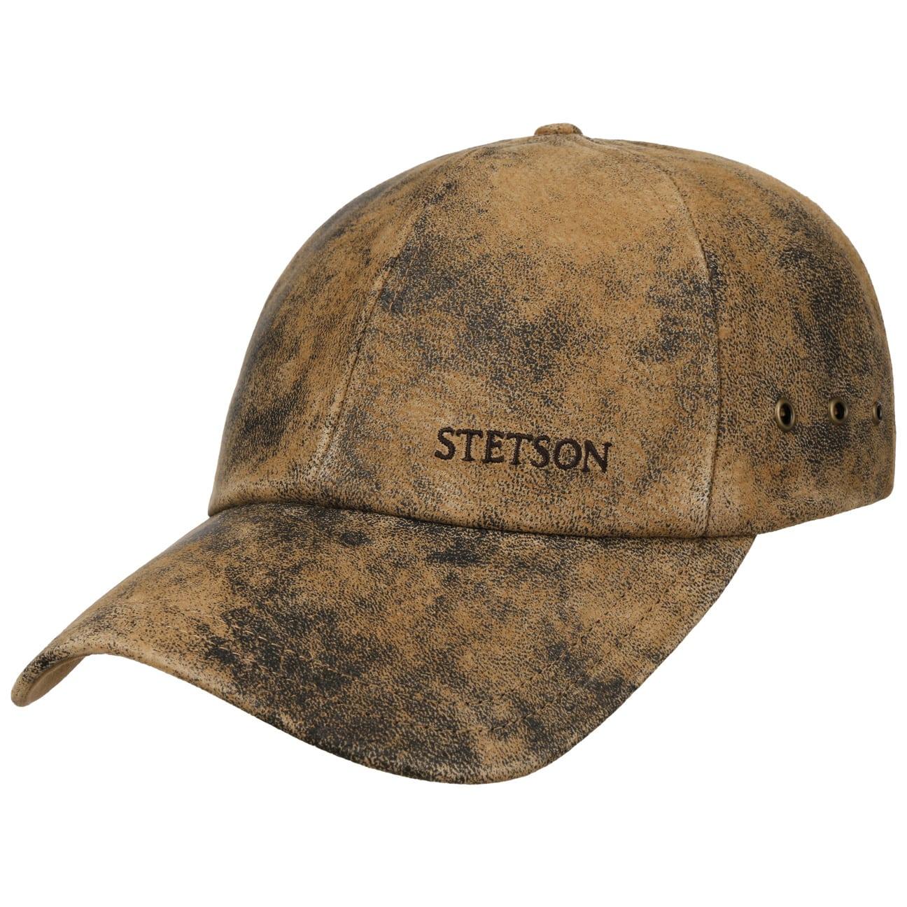 ... Rawlins Pigskin Baseball Cap by Stetson - brown 6 ... c471a9c51c7