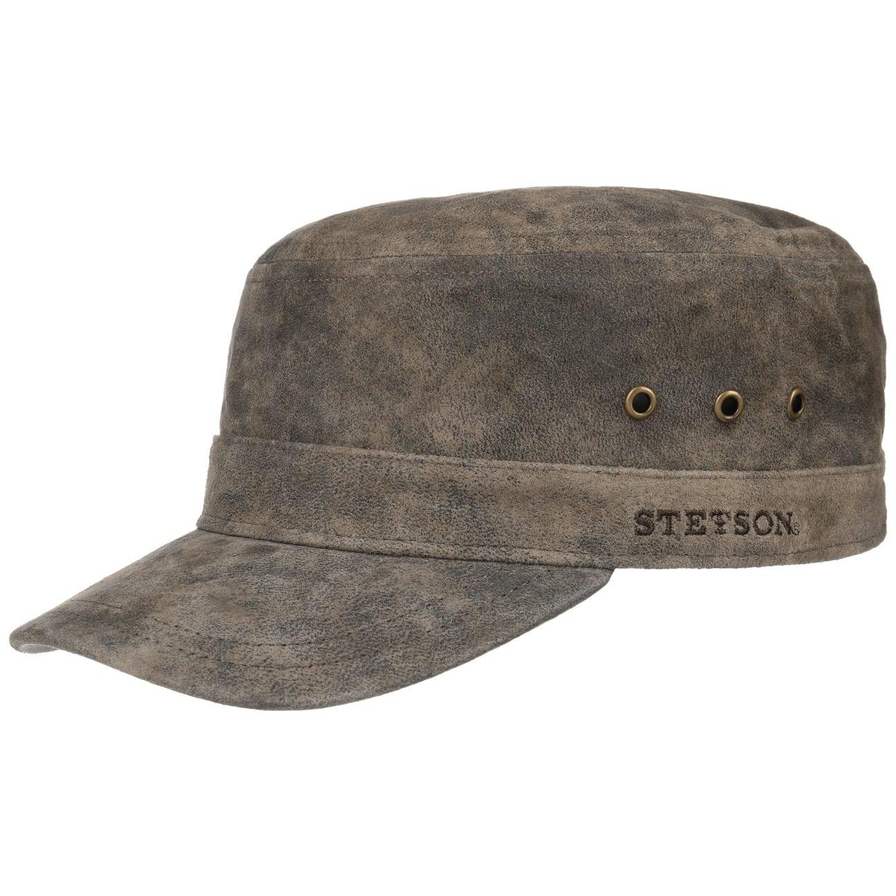 b8cf01a0 ... Raymore Pigskin Army Cap by Stetson - dark brown 5 ...
