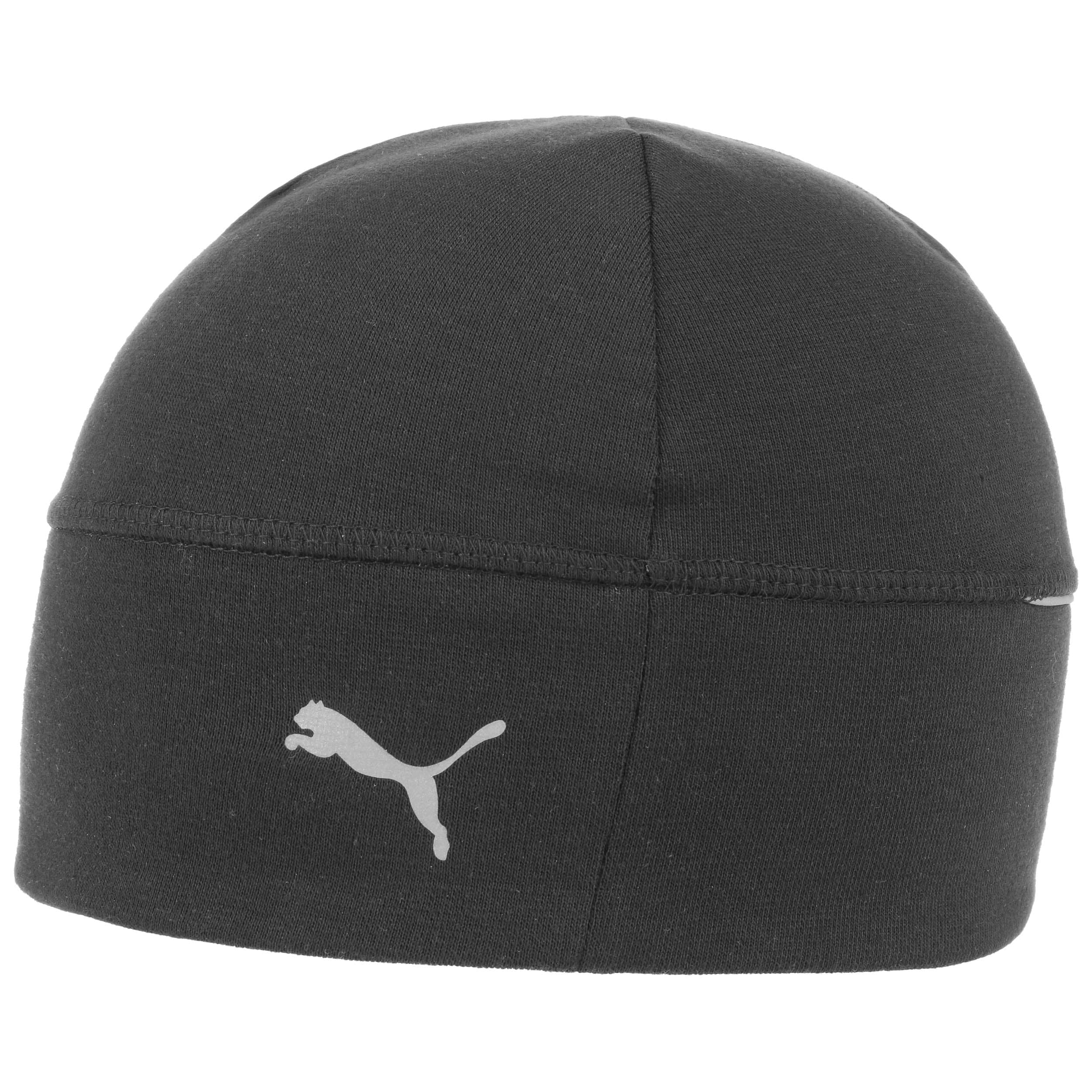 312bd43f69a ... Reflective Running Beanie Hat by PUMA - black 1 ...