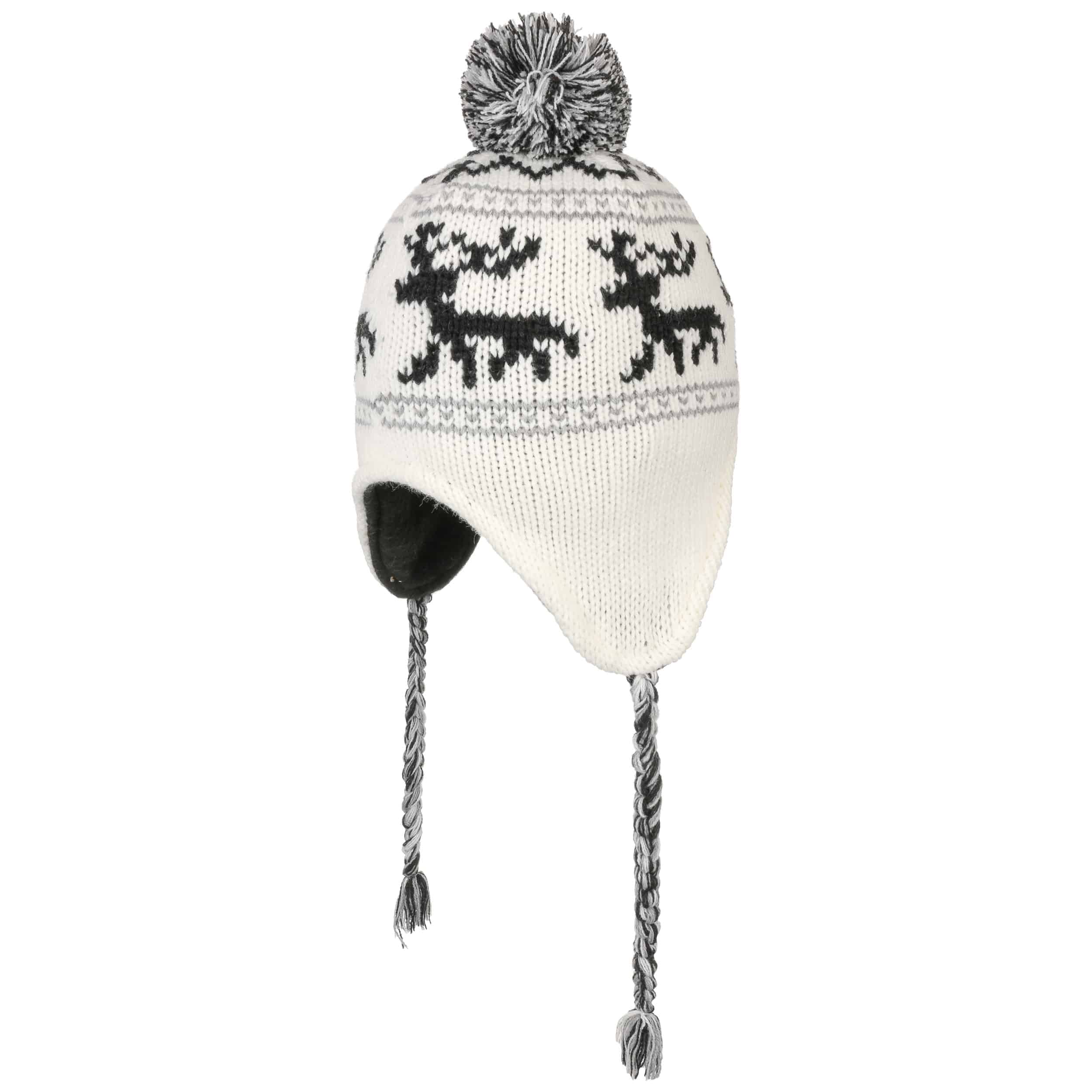 a376fbaf0eb ... Reindeer Pompom Hat by Lipodo - cream white 2 ...