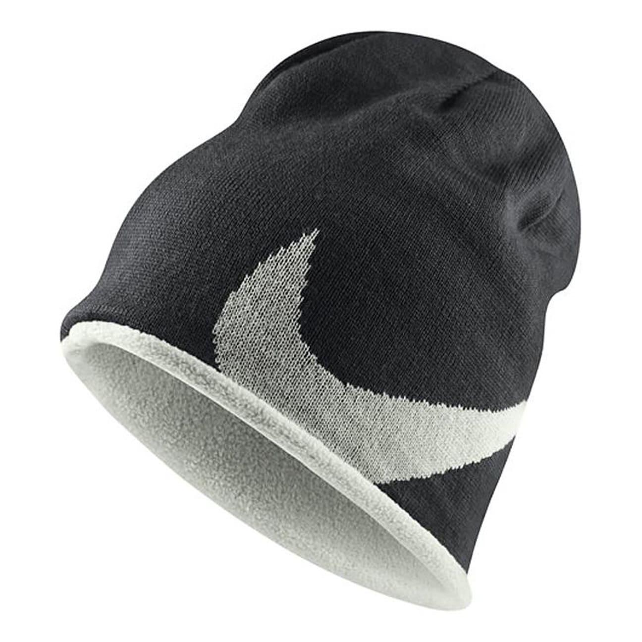 ... Reversible Fleece Beanie by Nike - black 1 ... 1070d58af76
