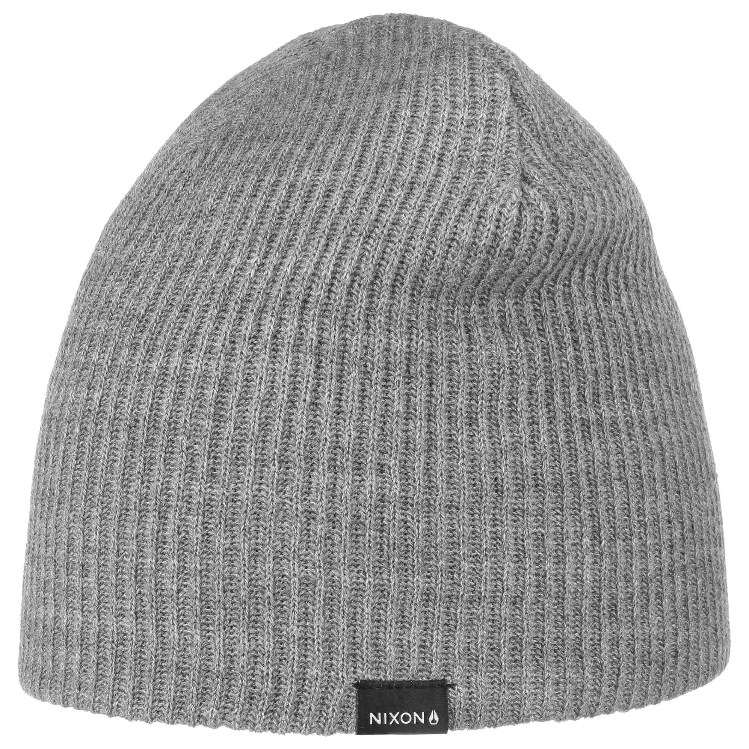 68a22703203 ... Ribbed Beanie by Nixon - anthracite 3 ...