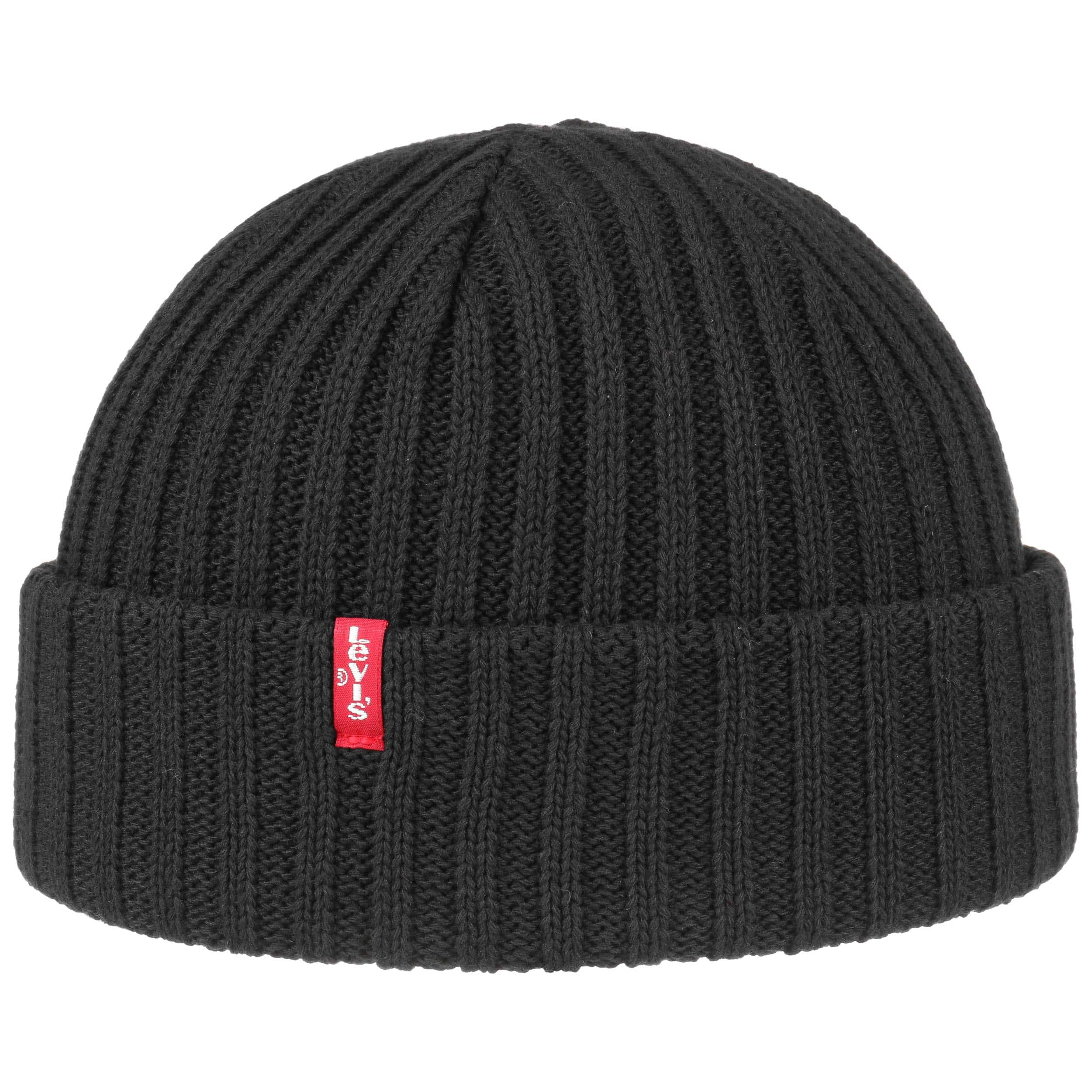bd78ff1d985 ... Ribbed Cotton Beanie Hat by Levi´s - black 3 ...