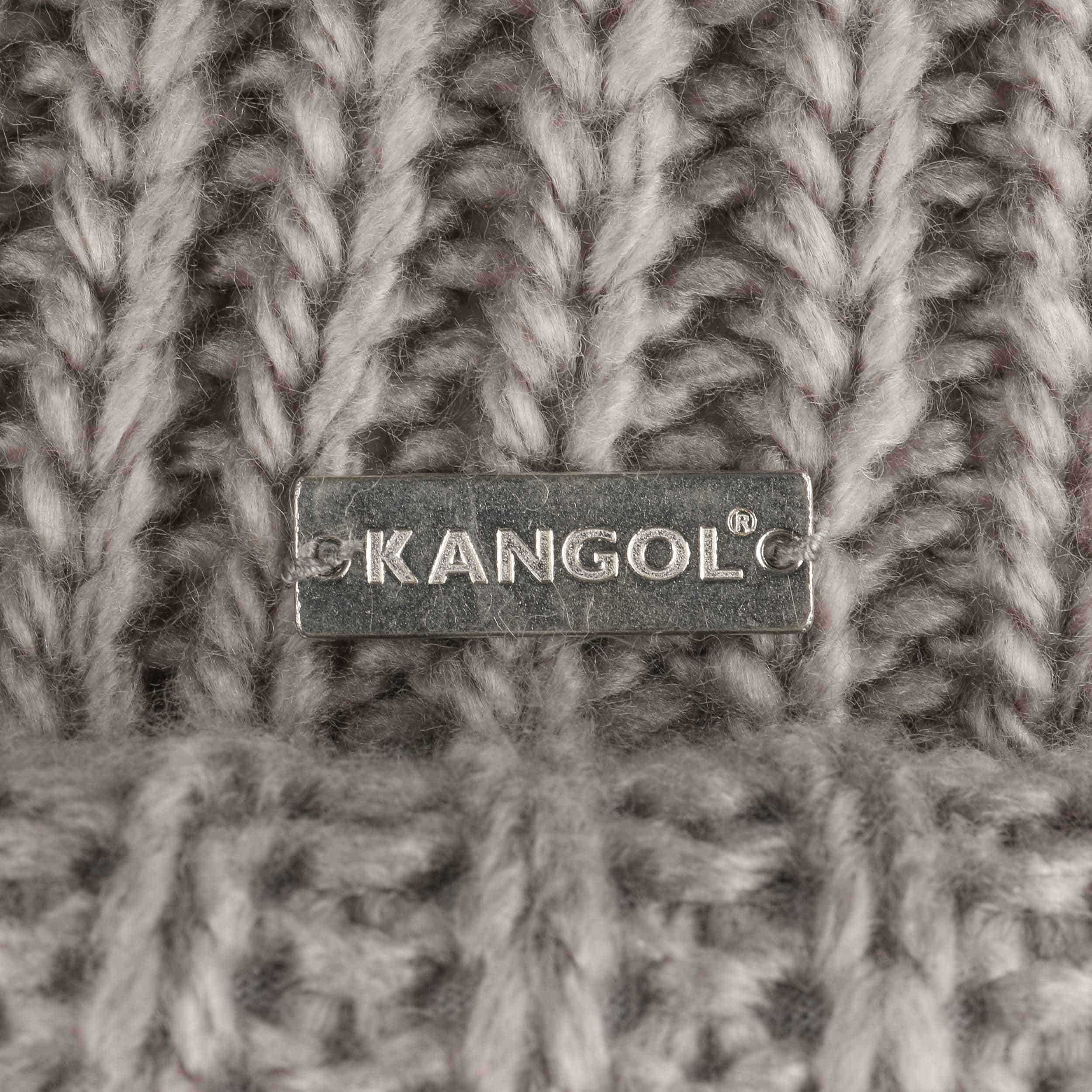 a1c7a3177686f ... Rolled Beanie Hat by Kangol - grey 3 ...
