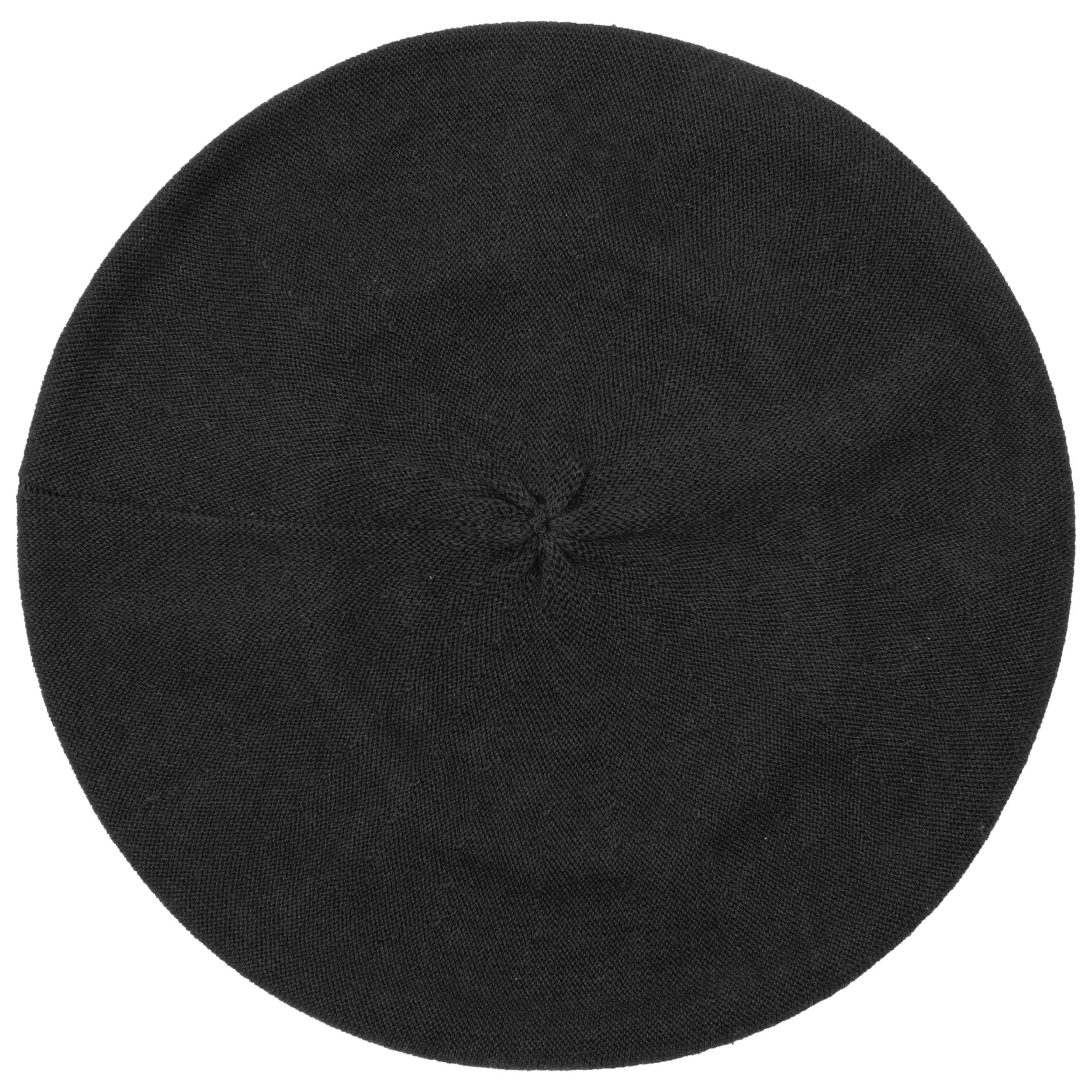 Beret in 100% new milled wool Seeberger black Seeberger qKMRH3B5y