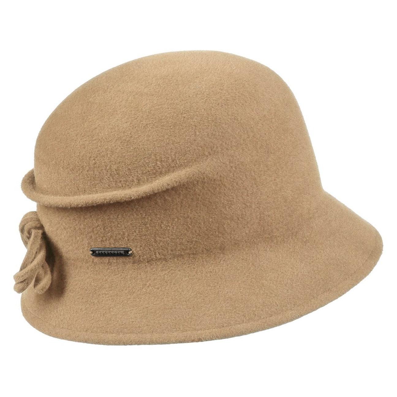 bdf70da7dae ... Sabrina Velours Cloche Hat by Seeberger - camel 1