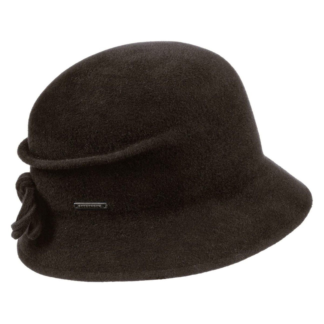 a499448933e ... Sabrina Velours Cloche Hat by Seeberger - dark brown 1 ...