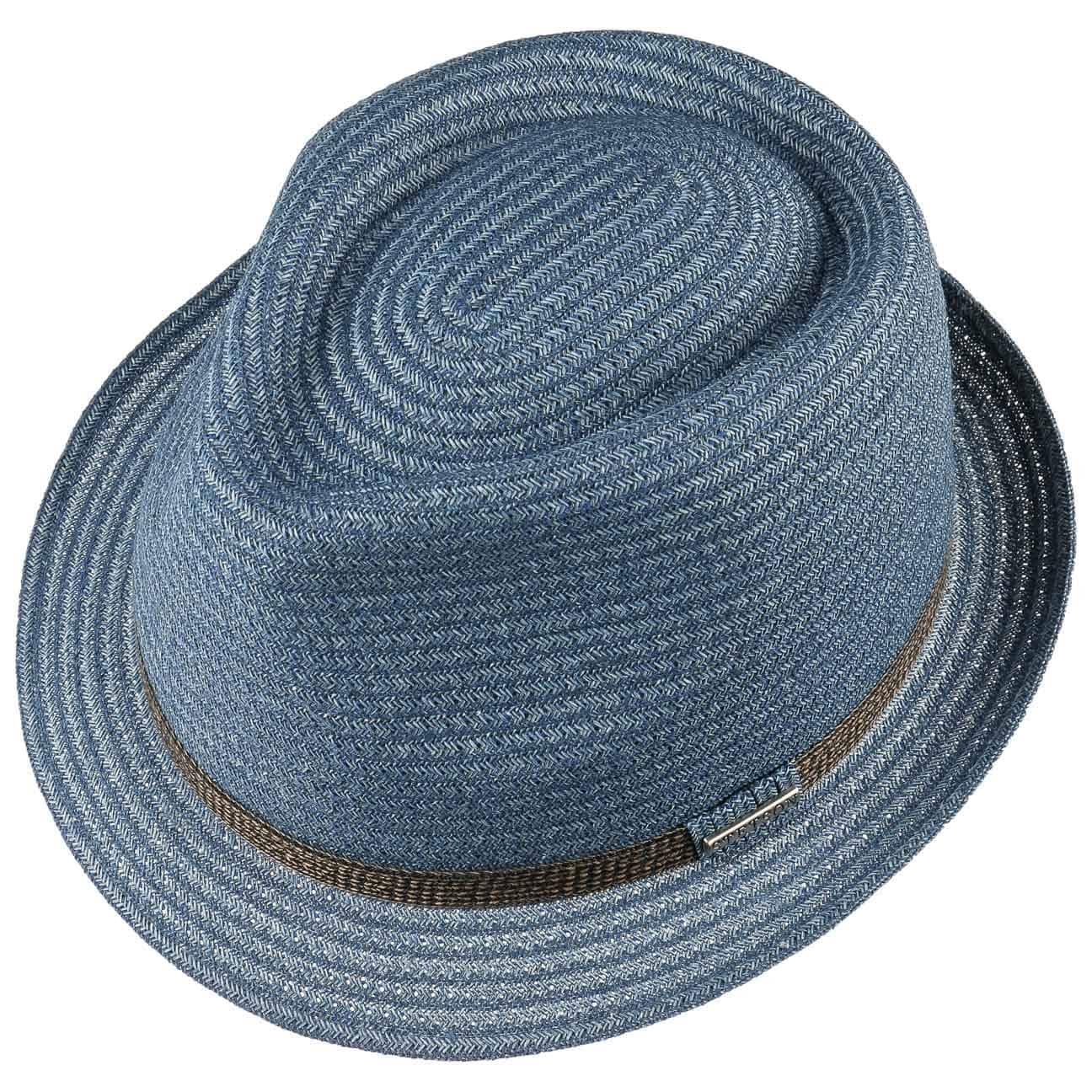 8c2aab69f2a Selden Toyo Trilby Straw Hat by Stetson - blue 2 ...