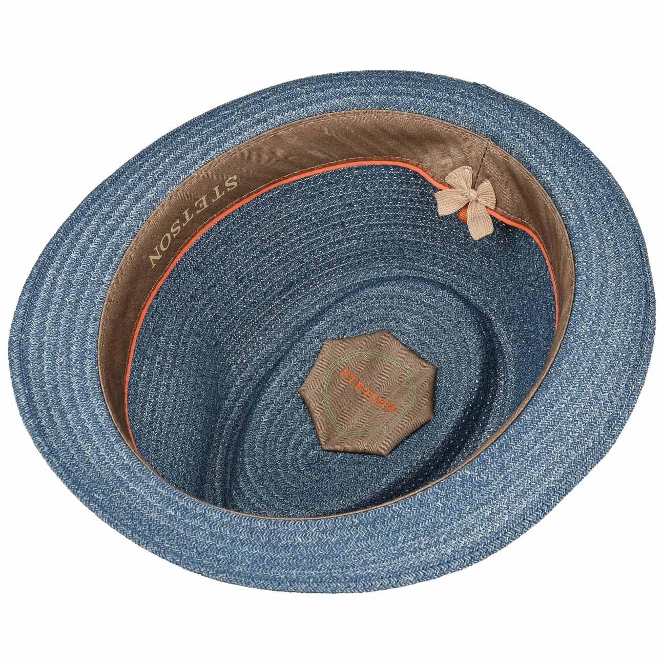 2e8abd5a66e ... Selden Toyo Trilby Straw Hat by Stetson - blue 3 ...