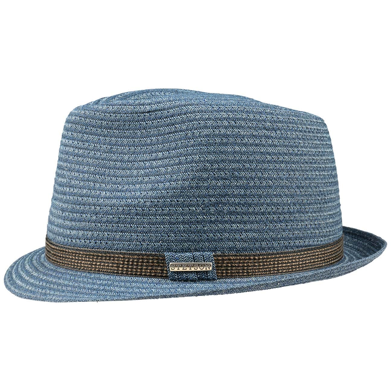 85e3142f158 ... Selden Toyo Trilby Straw Hat by Stetson - blue 4 ...