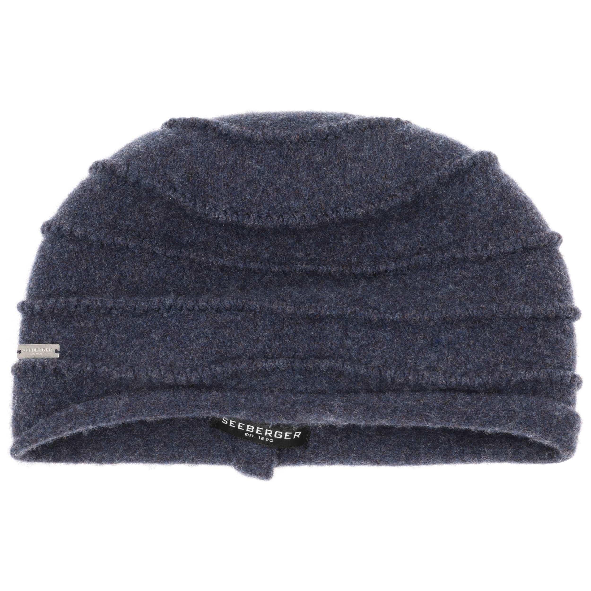 b2b0b854cbe ... Selifa Milled Wool Hat by Seeberger - blue 1 ...
