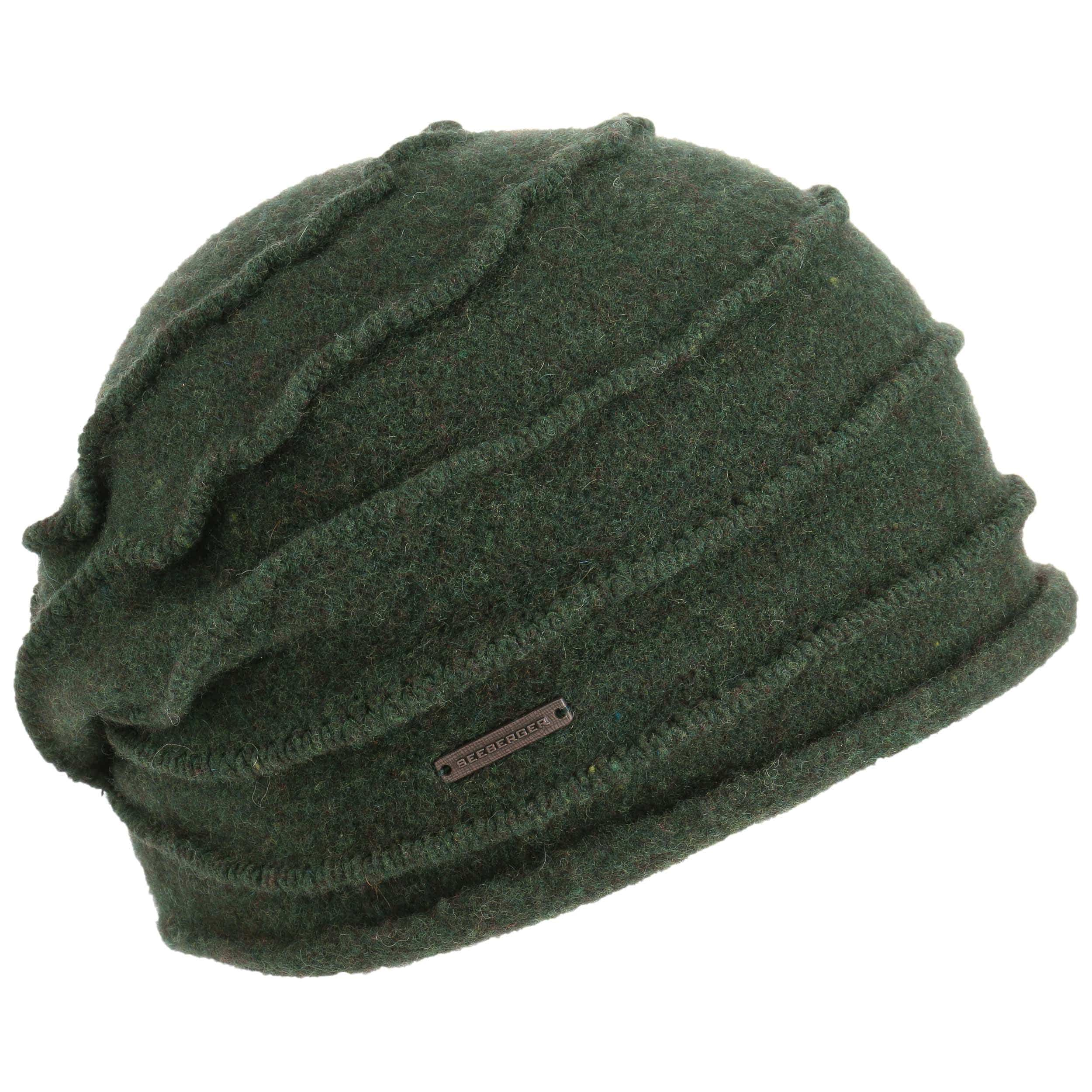 4e9a16ffd7d ... Selifa Milled Wool Hat by Seeberger - green 1 ...