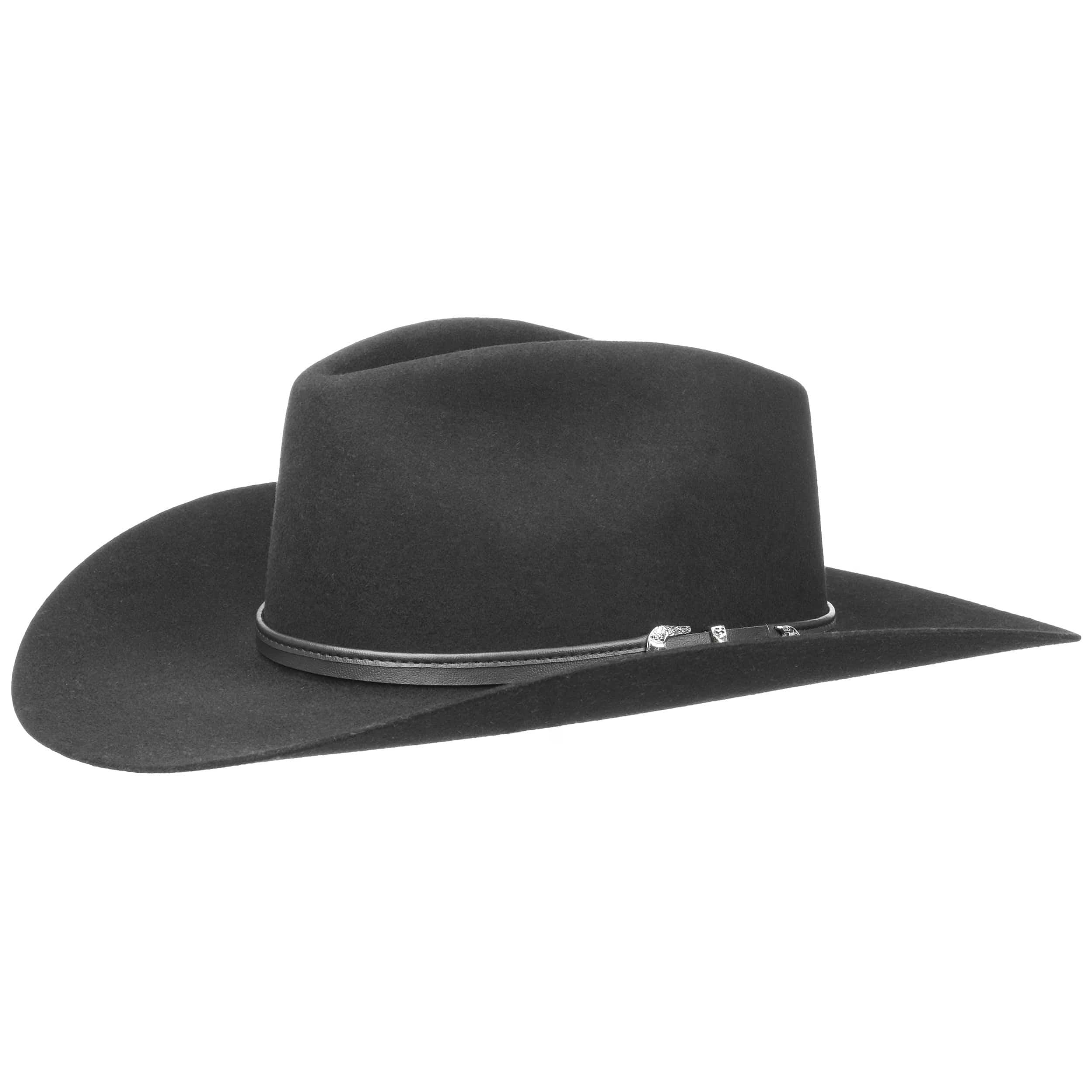 6399e950d41fd ... Seneca 4X Fur Felt Western Hat by Stetson - black 4 ...