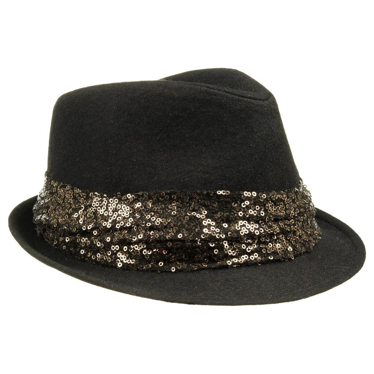 757704b24f045b ... pink 5 · Sequined Women´s Felt Trilby - golden 5