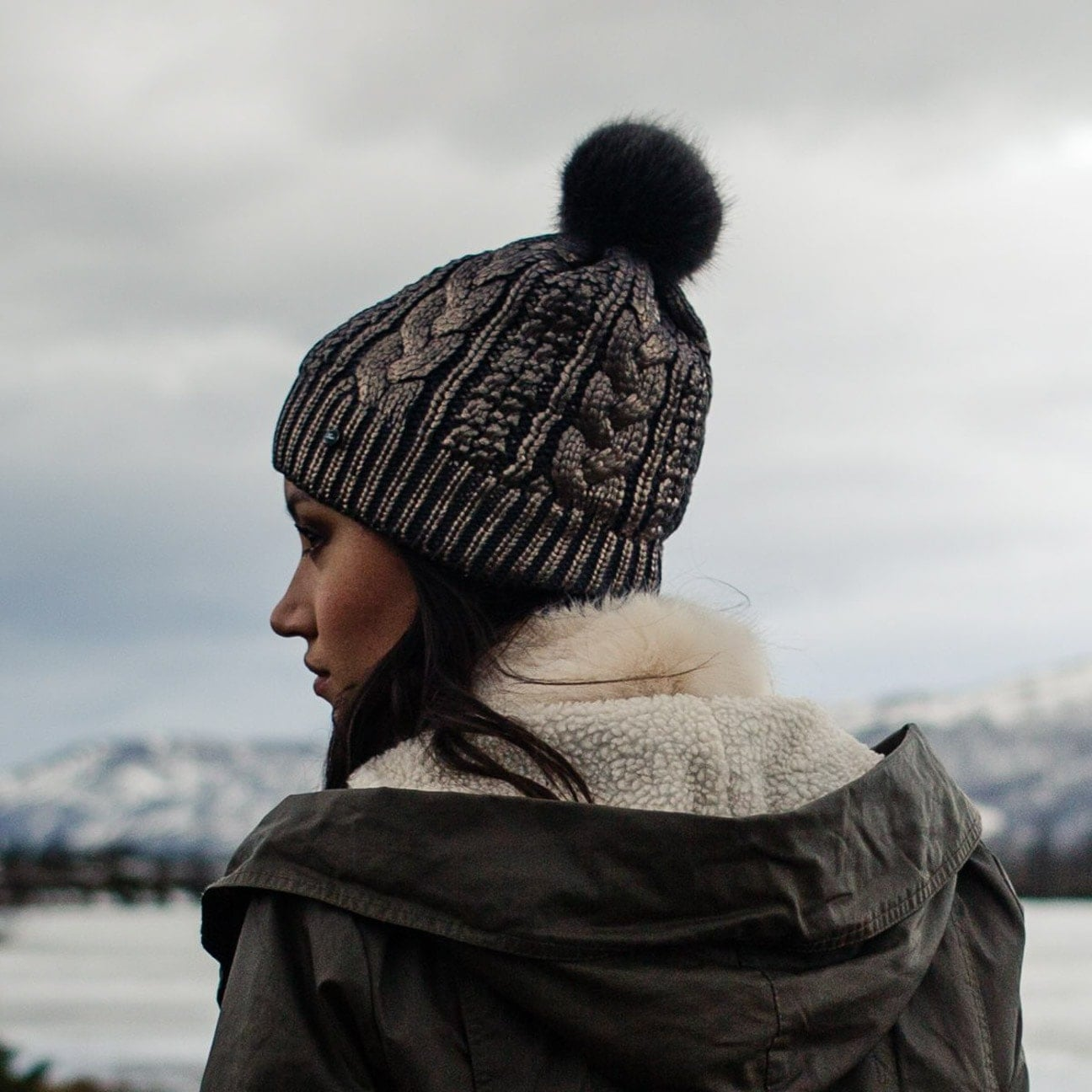 10d1c0da8 Shine Faux Fur Pom Pom Hat by Barts