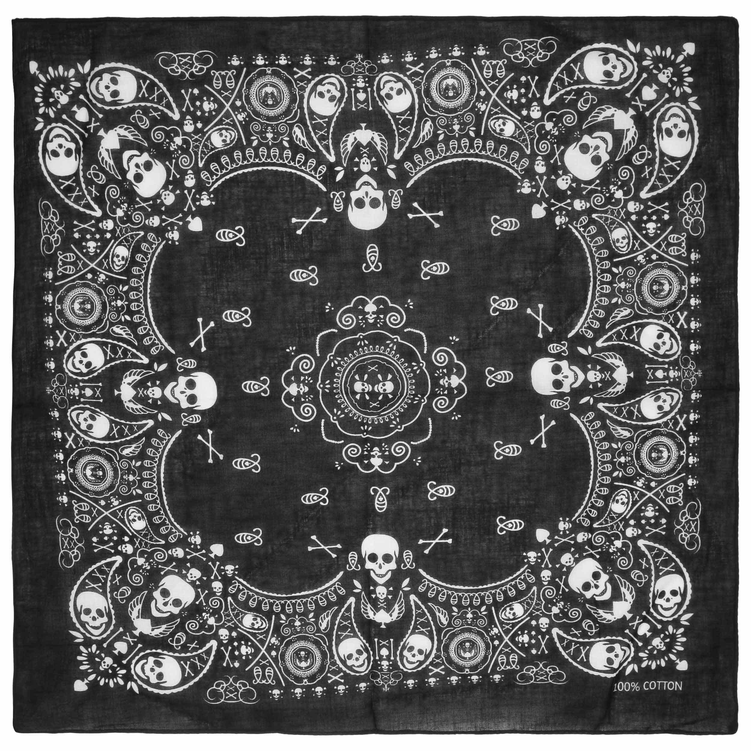 Skulls Cotton Bandana By Lipodo Gbp 2 95 Gt Hats Caps