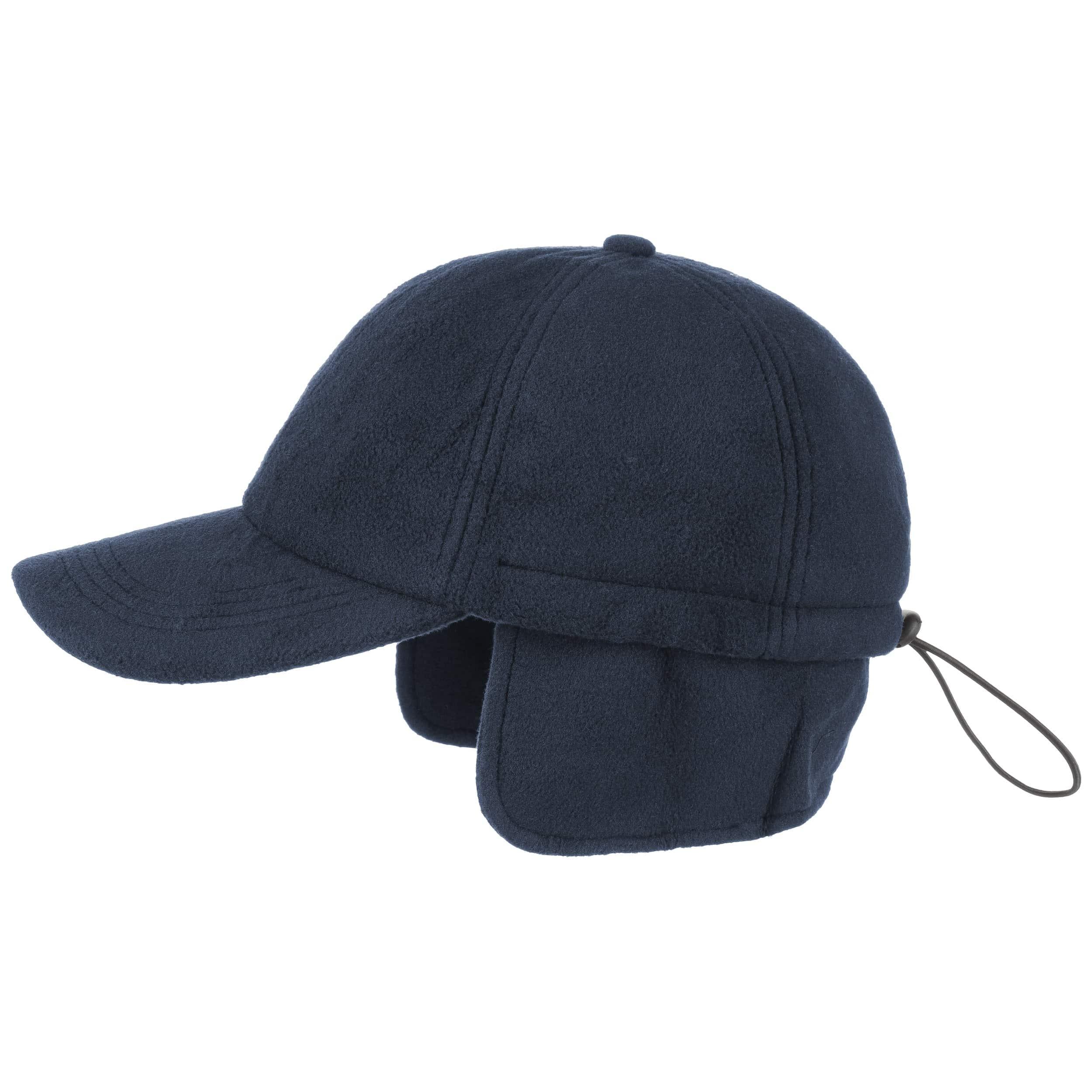 ... Snow Fleece Baseball Cap with Earflaps - blue 4 ... 306fbc4bd10