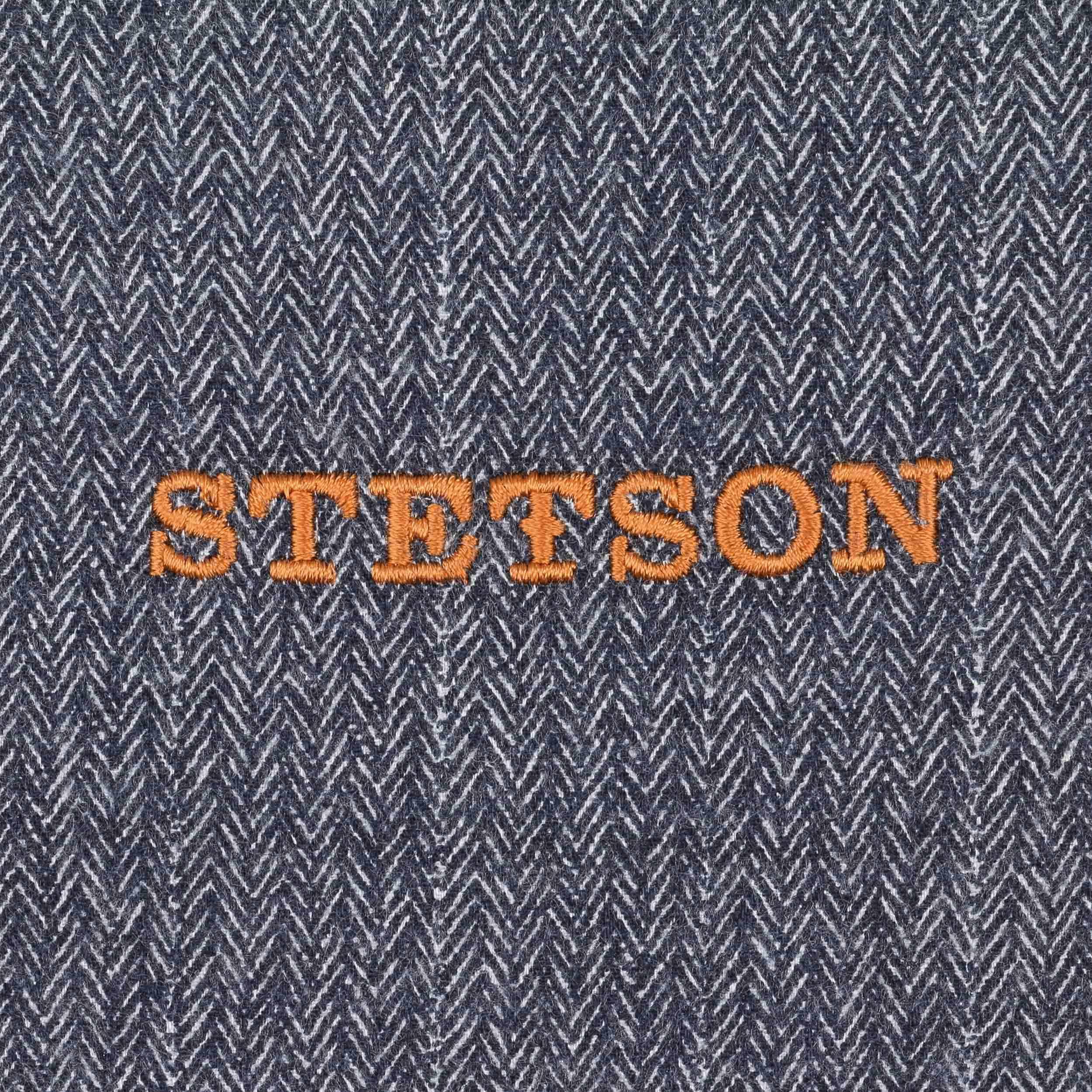 14d66f45 Kent Earflaps Leather Flat Cap By Stetson Eur 119 00