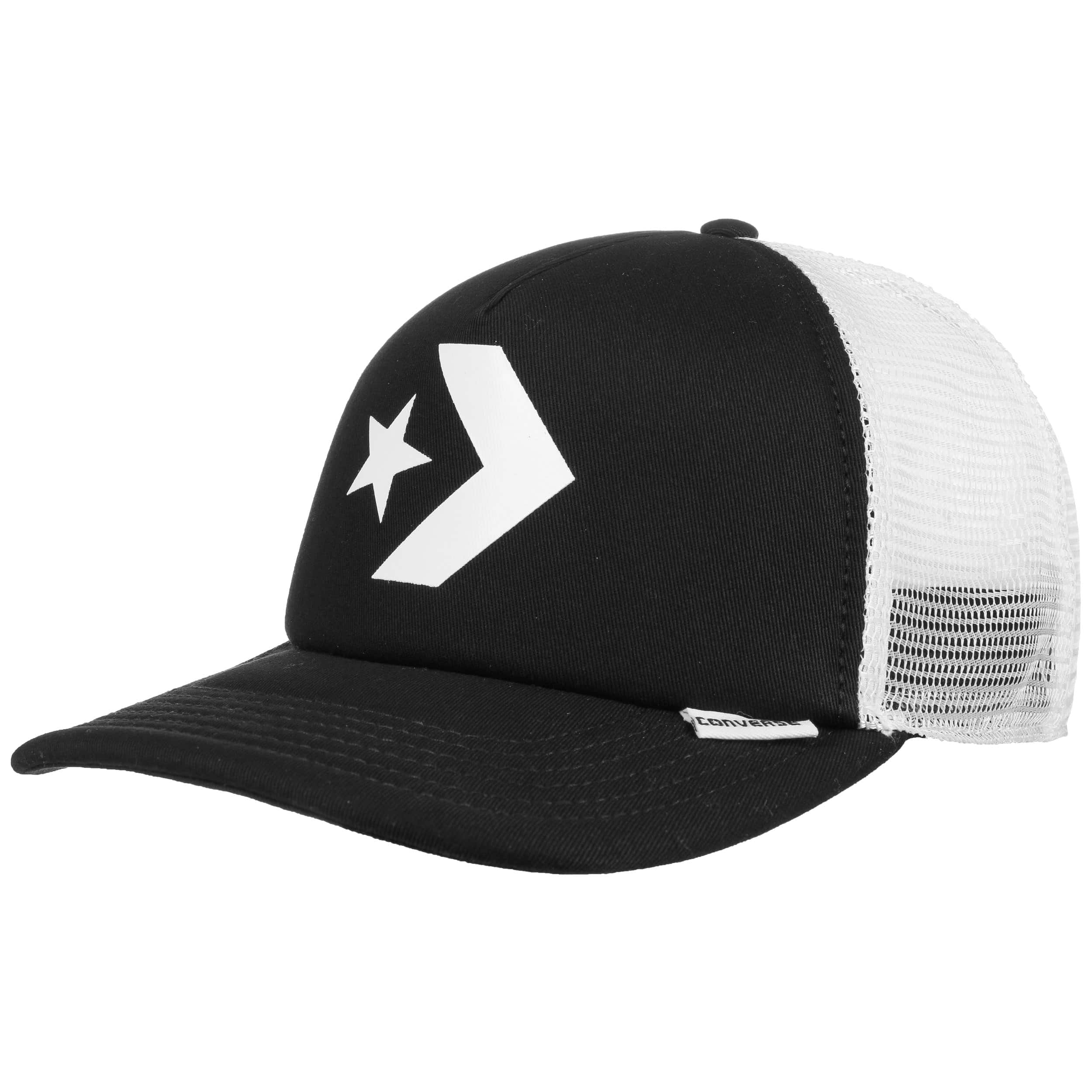 968193680f90b ... Star Chevron Flat Trucker Cap by Converse - black 5 ...
