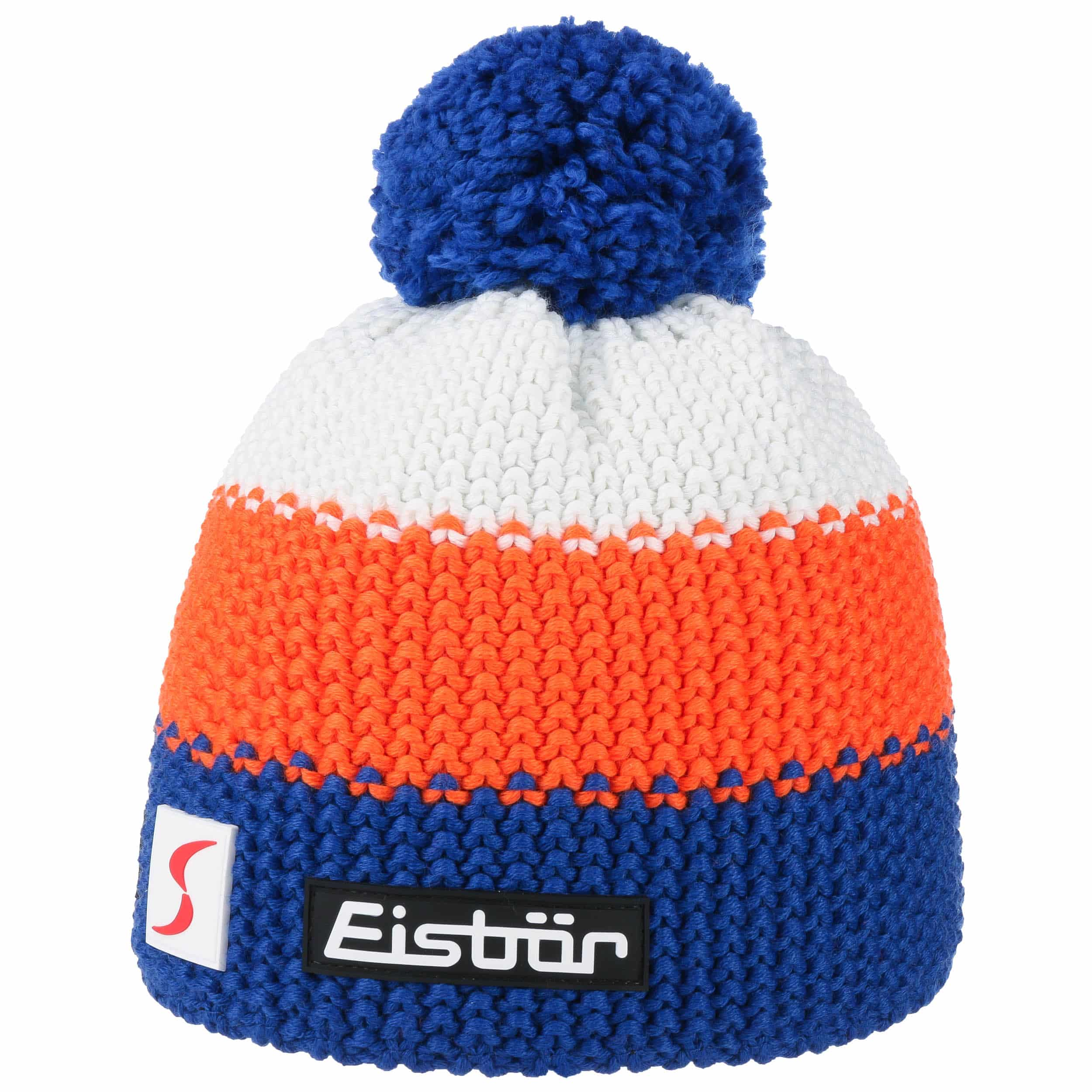 ... Star Neon Bobble Hat by Eisbär - royal-blue 3 e2022331fc22