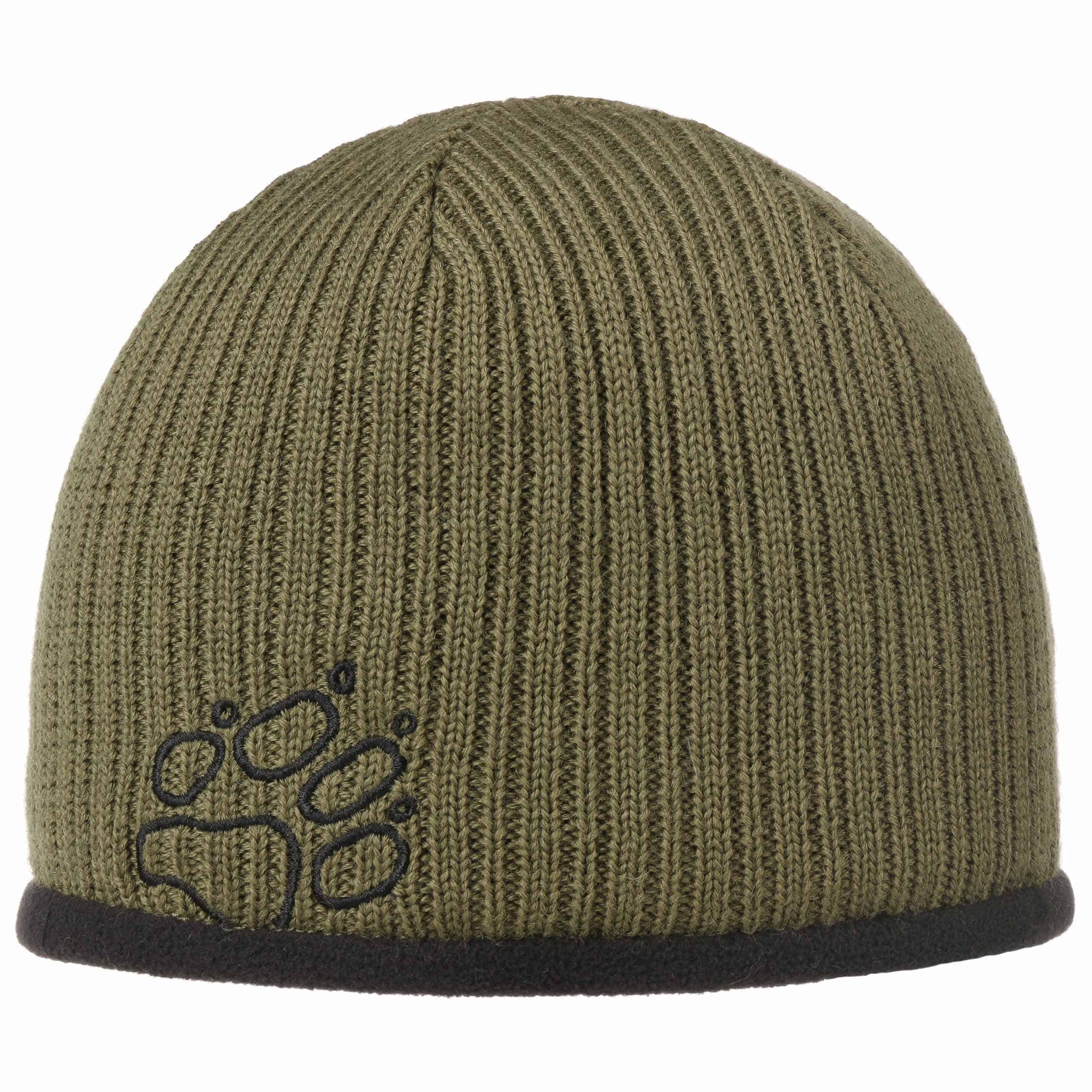 8e3e82acb3c ... Stormlock Ribbed Beanie by Jack Wolfskin - olive 4 ...