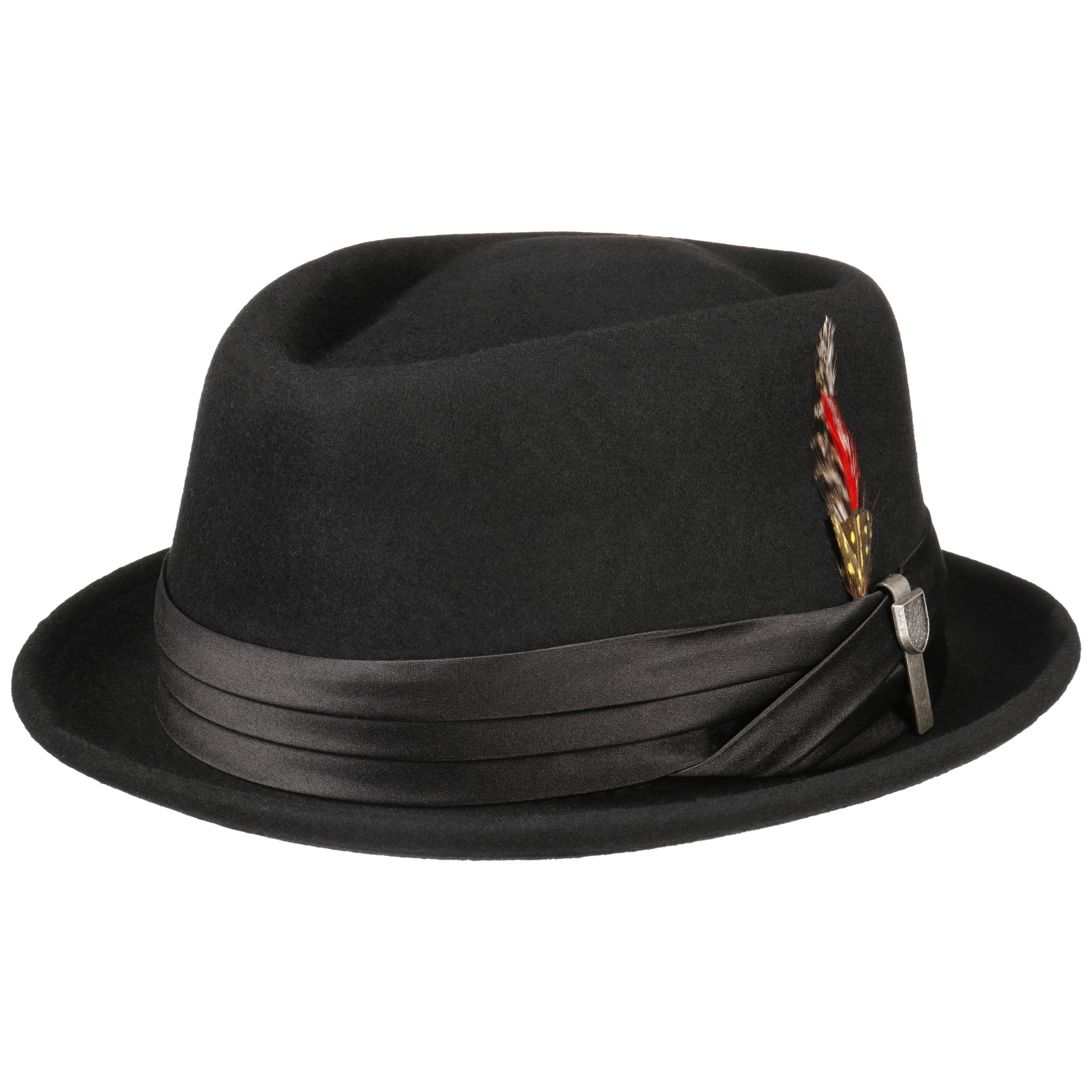 218025bbc88 ... Stout Pork Pie Wool Felt Hat by Brixton - black 7 ...