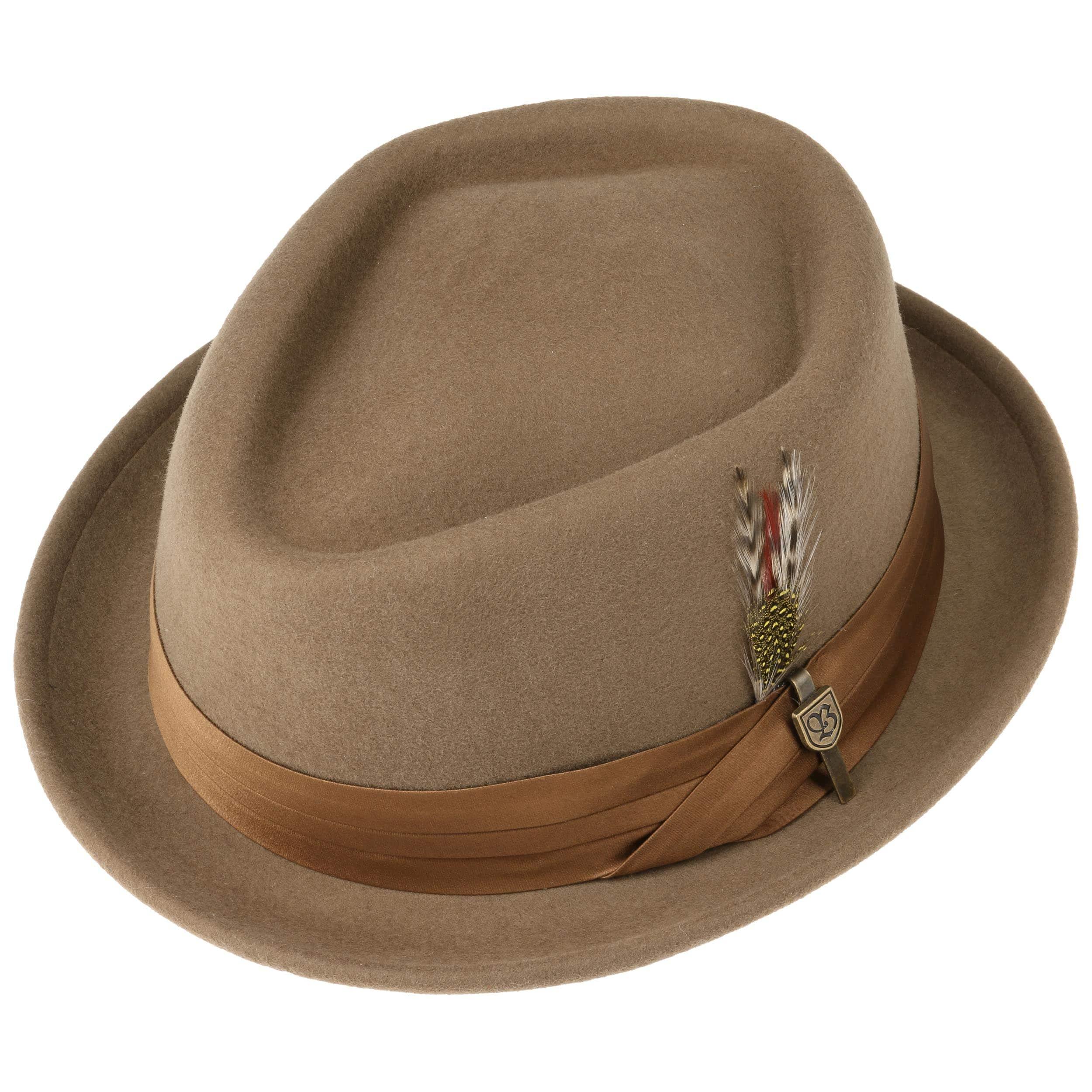 8e859c3746e ... Stout Pork Pie Wool Felt Hat by Brixton - black 2 ...