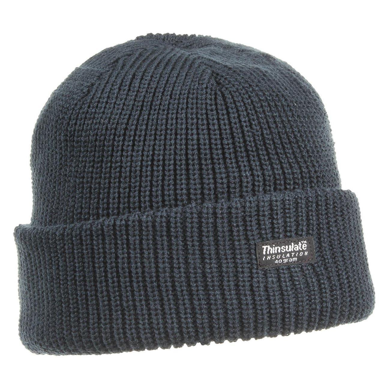 Herren Mütze Strickmütze Wintermütze Thinsulate mit Fleecefutter schwarz