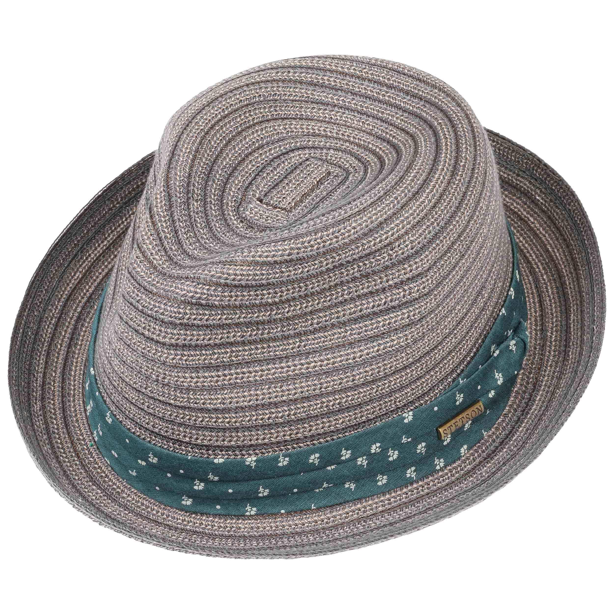 Stripe Braid Player Hat Cloth Hat by Stetson - blue-grey 1 ... 3c11e2a82089