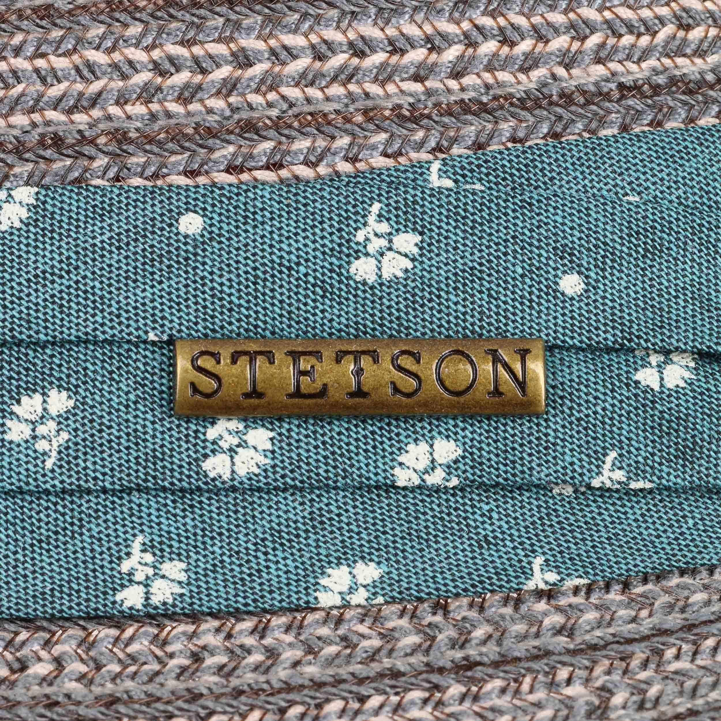 ... Stripe Braid Player Hat Cloth Hat by Stetson - blue-grey 3 ... bad70e3d643c