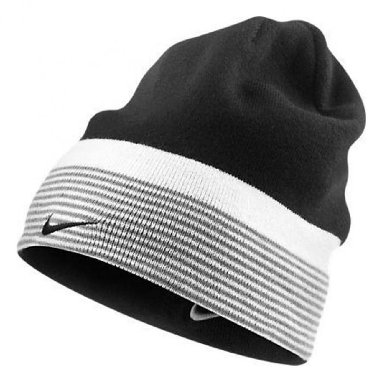 ... Stripe Reversible Beanie by Nike - black 1 ... 478fb7b7d8d