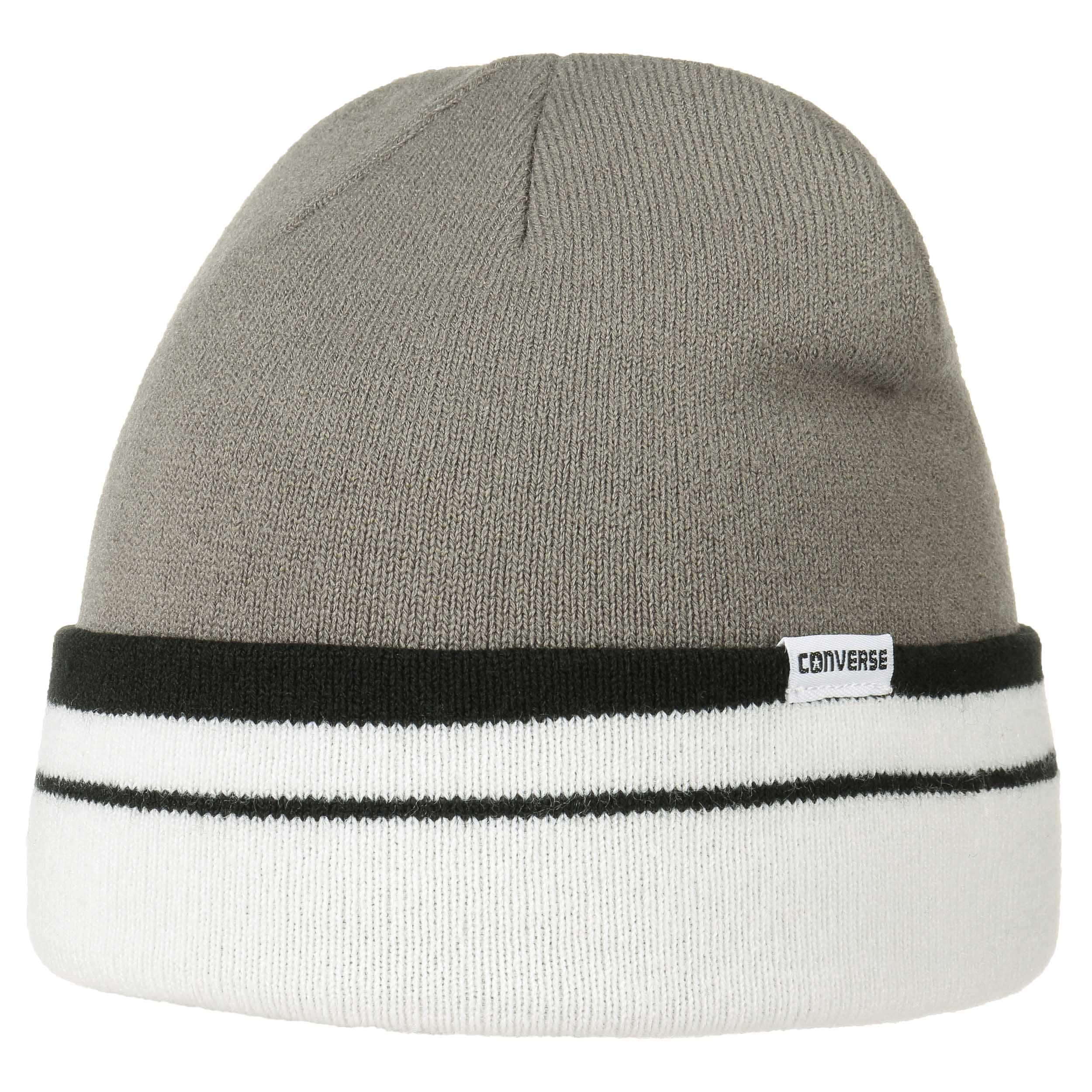 0abf87b2a41 ... Stripes Knit Hat with Cuff by Converse - grey 4 ...