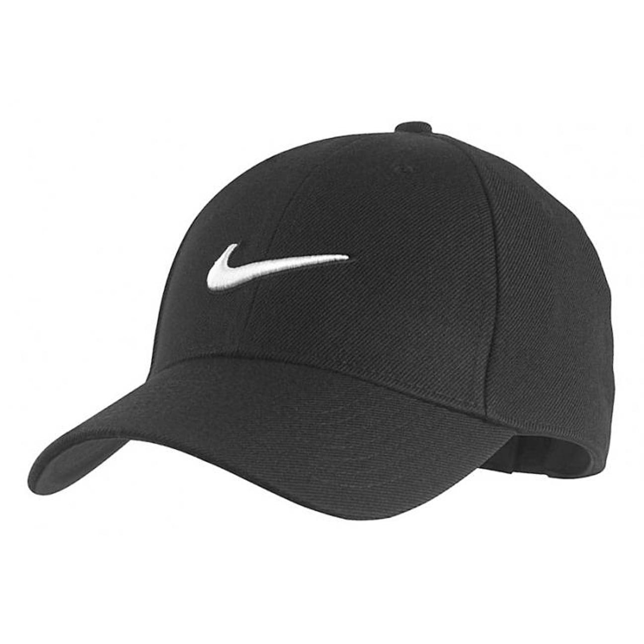 b7776e1c89c5f ... Structured Swoosh Cap by Nike - black 1 ...