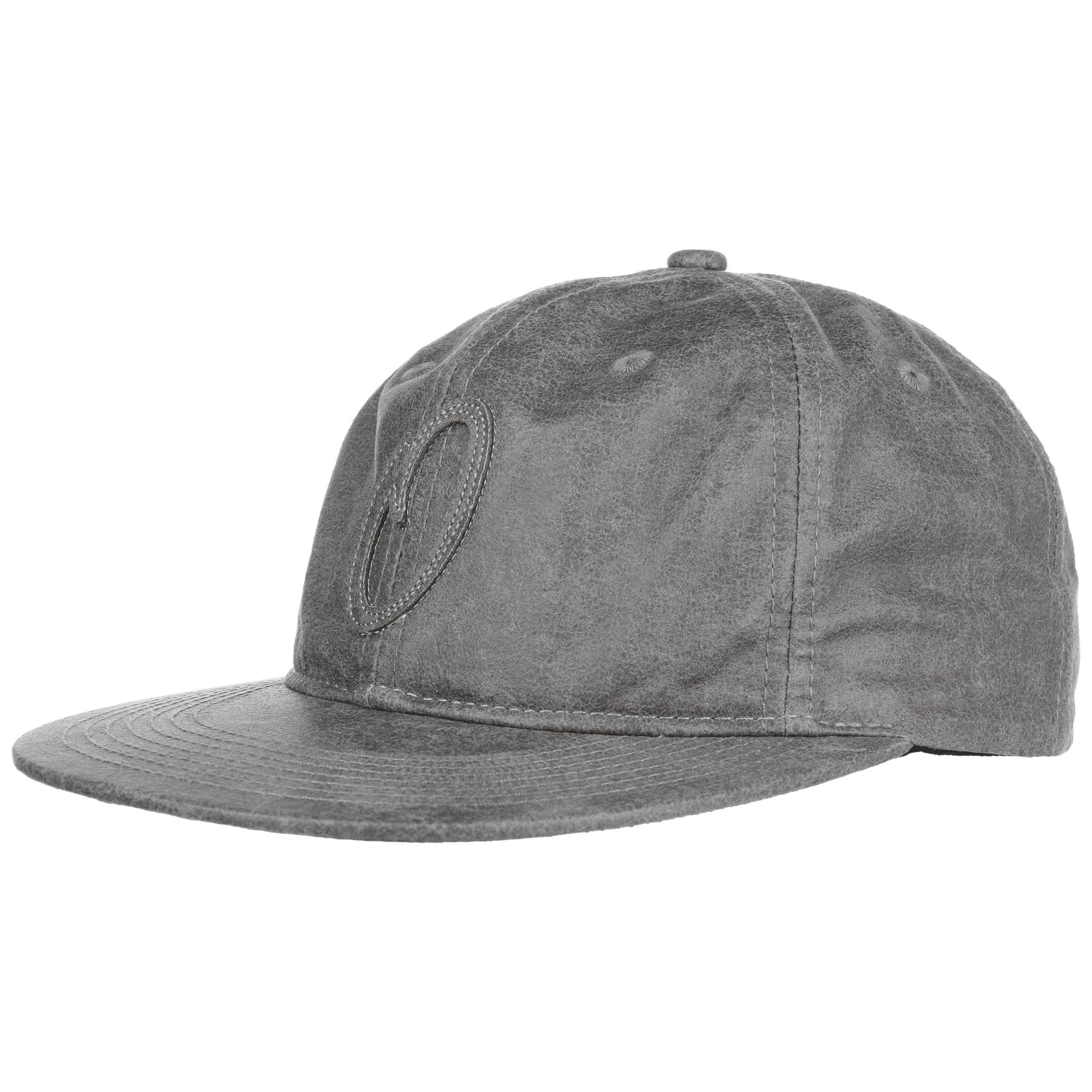330121870cd ... Suede Pitch Strapback Cap by Official Headwear - dark grey 5