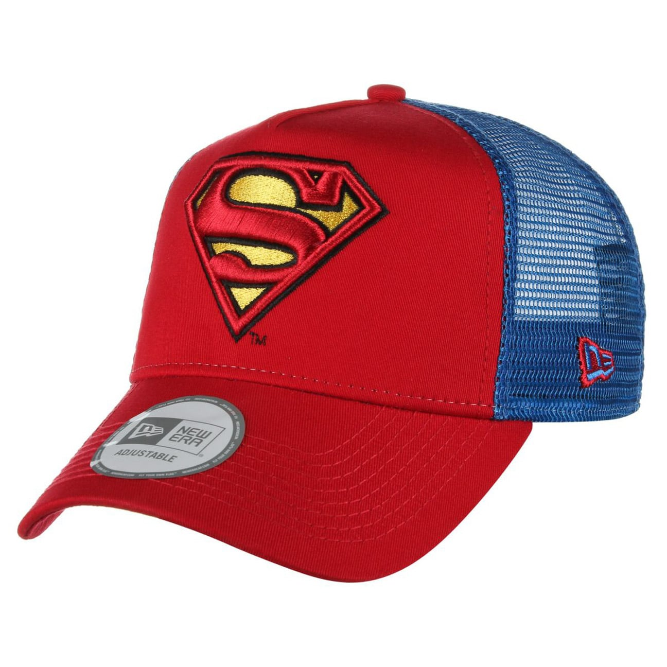 14160e9d12be Superman Mesh Cap by New Era - red 1