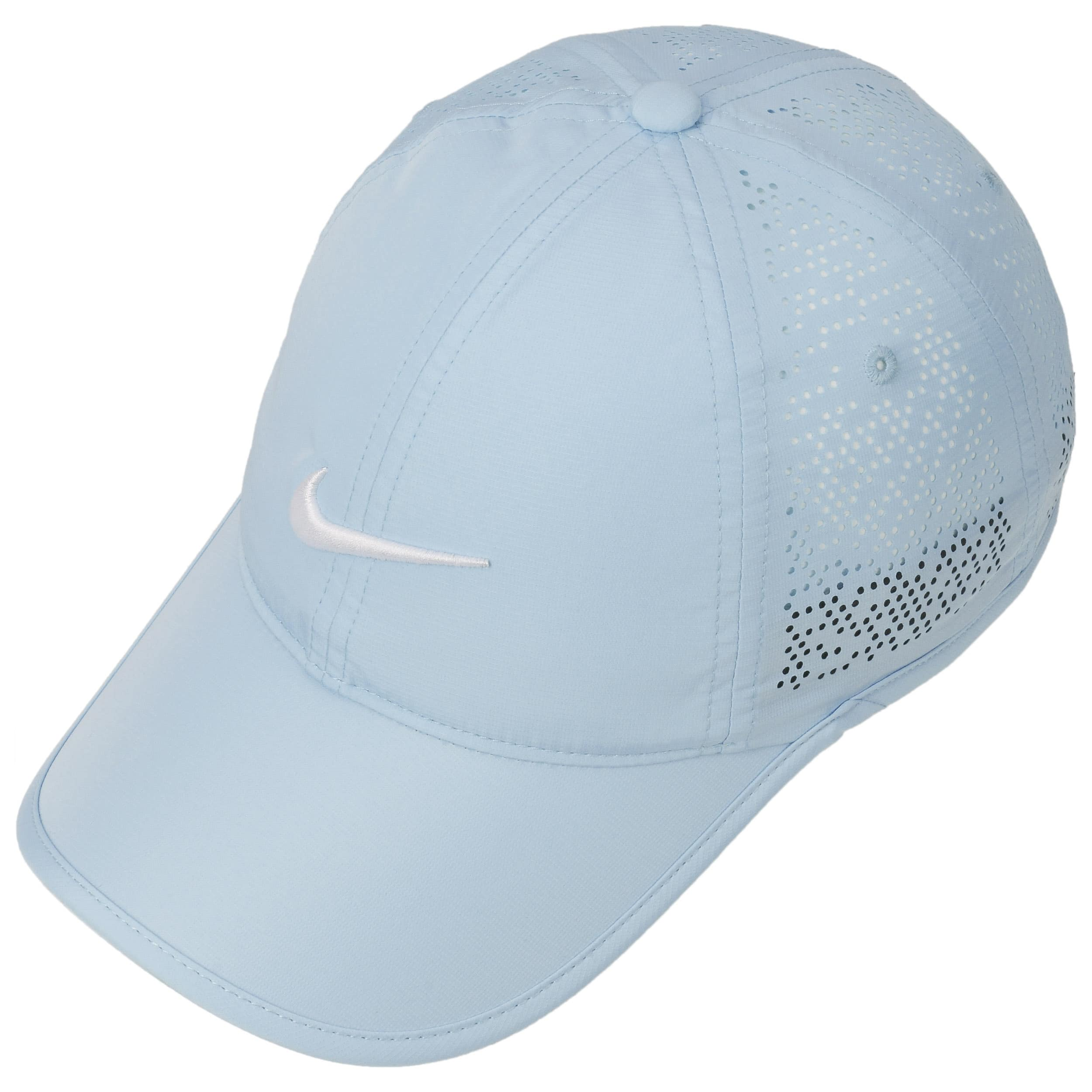 171e28fb13a24 ... Swoosh Perforation Cap by Nike - light blue 1 ...