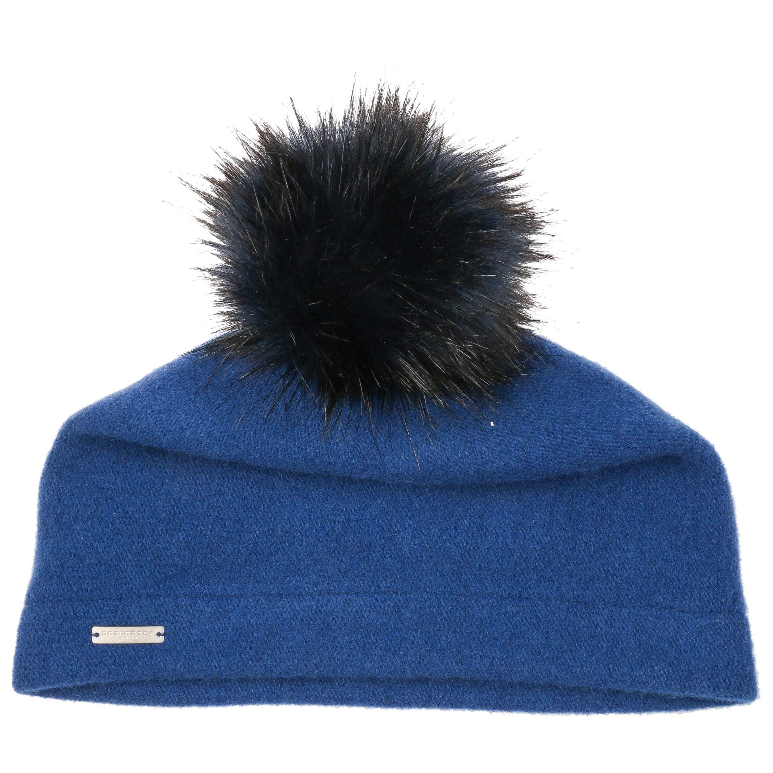 03b16de2d77 ... Tamisa Milled Wool Hat by Seeberger - blue 1 ...