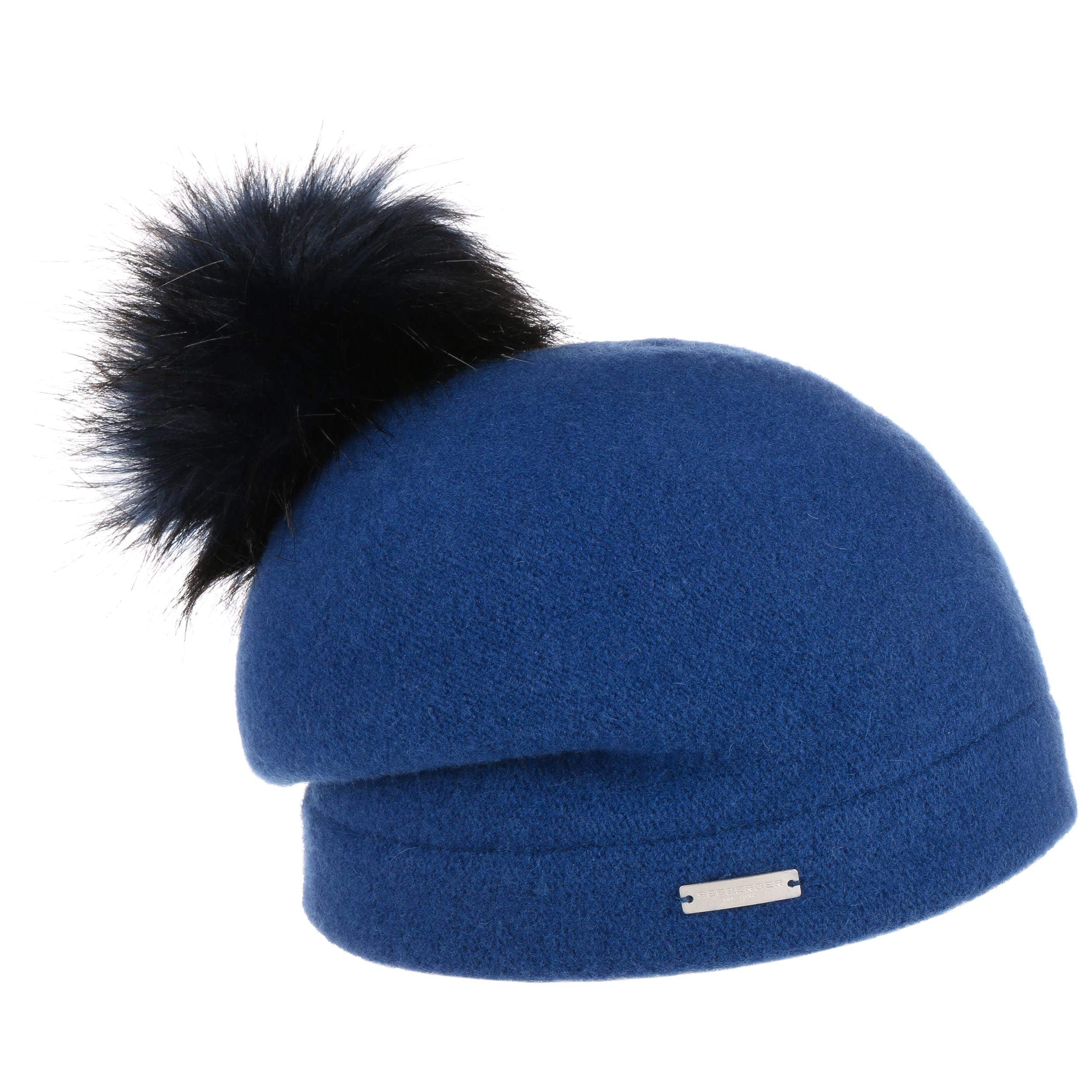 86ac705d777 ... Tamisa Milled Wool Hat by Seeberger - bordeaux 5 ...