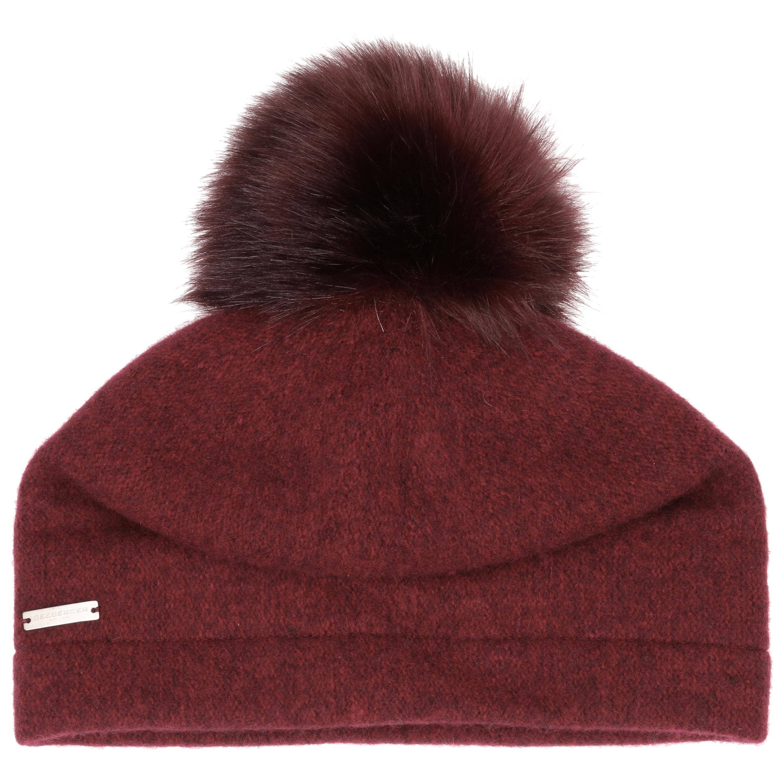 b0bf33d42ea ... Tamisa Milled Wool Hat by Seeberger - bordeaux 1 ...