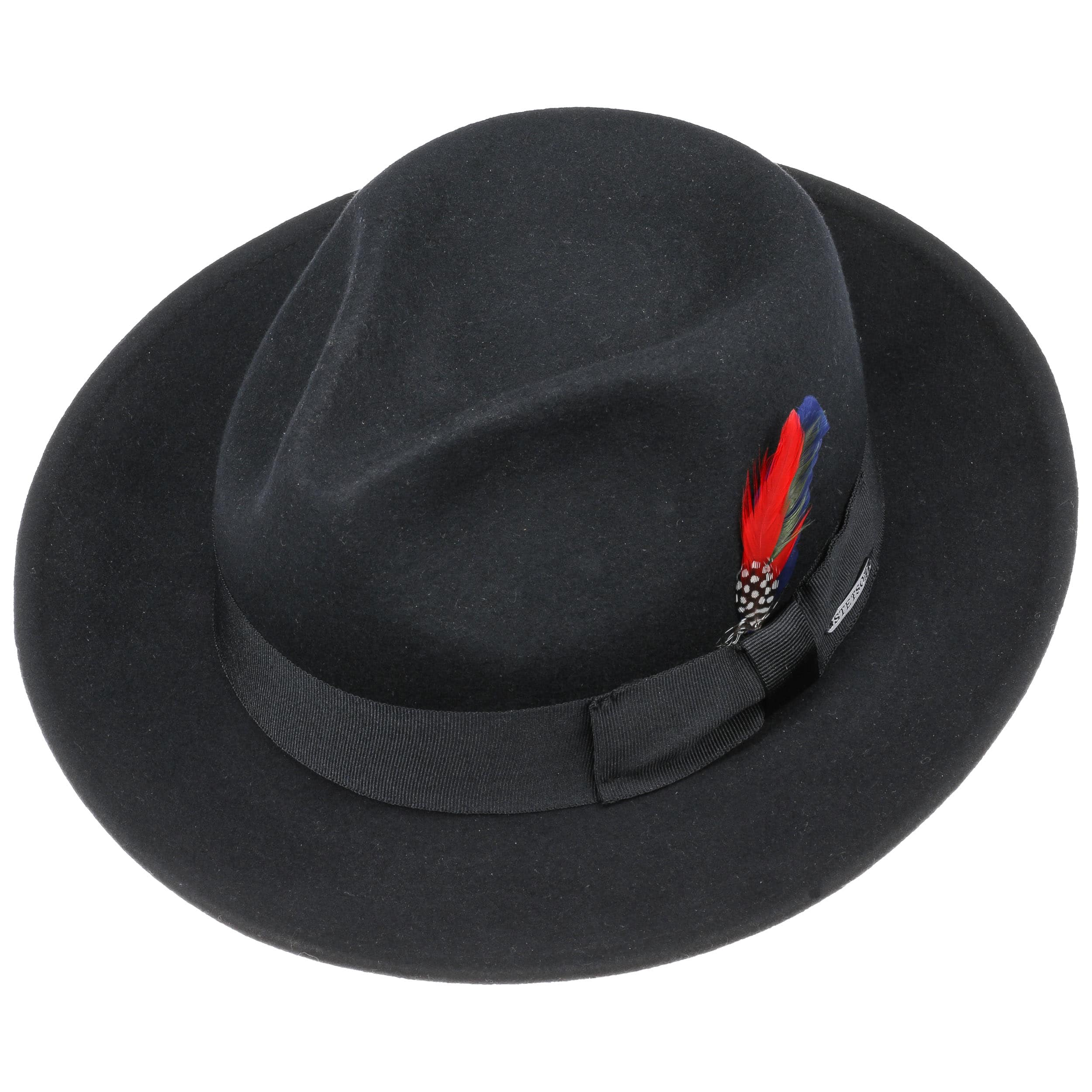 f2fae281d4a3aa Tarveston Fedora Hat with Cashmere by Stetson - black 1 ...