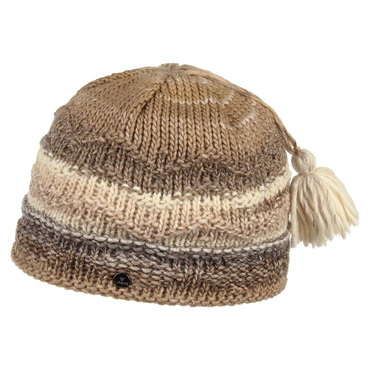 ... Tassel Knit Hat by Lierys - beige 1 ... f6ca96cb0c1