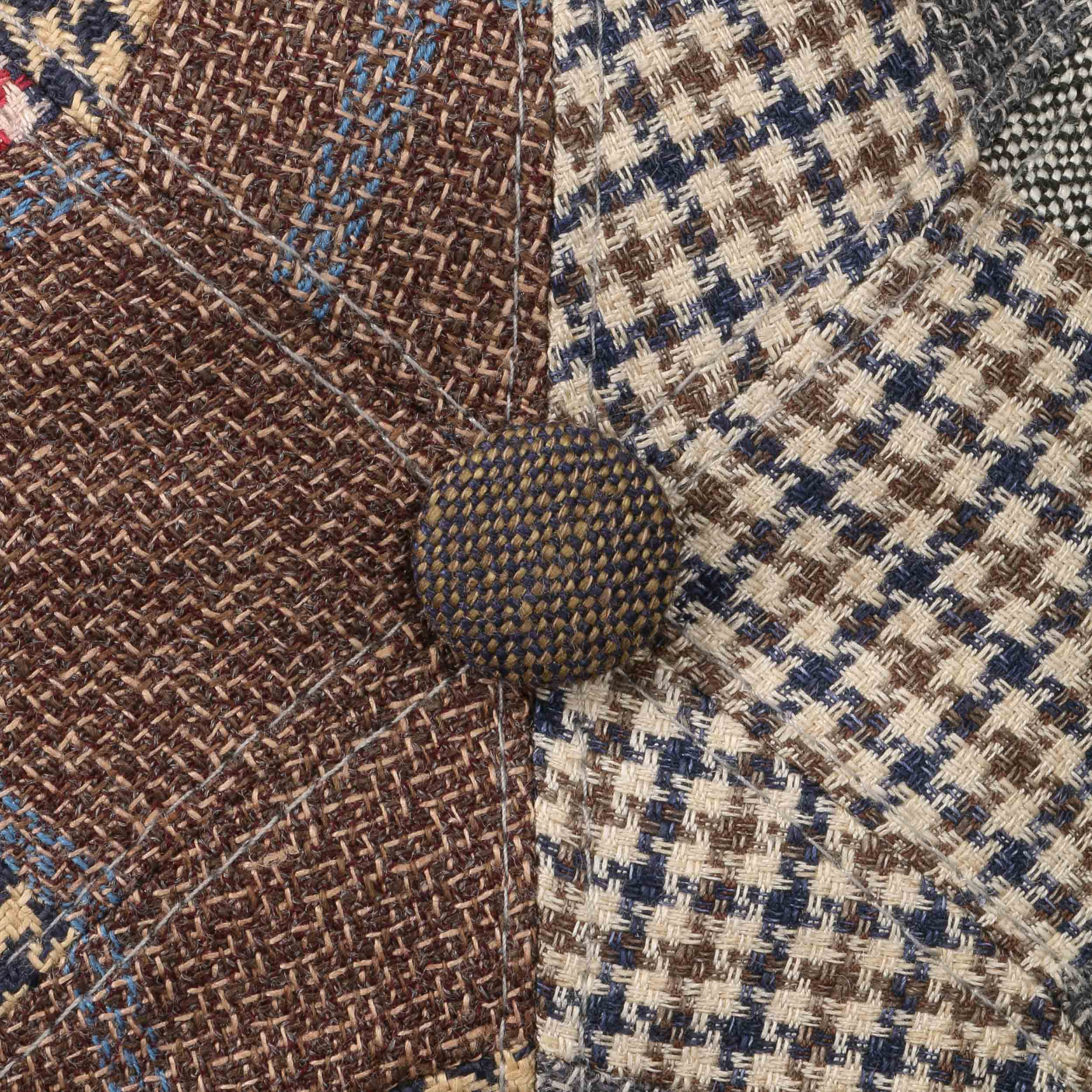 1caed4ebba3 ... Tecopa Patchwork 6 Panel Flat Cap by Stetson - brown-beige 4 ...
